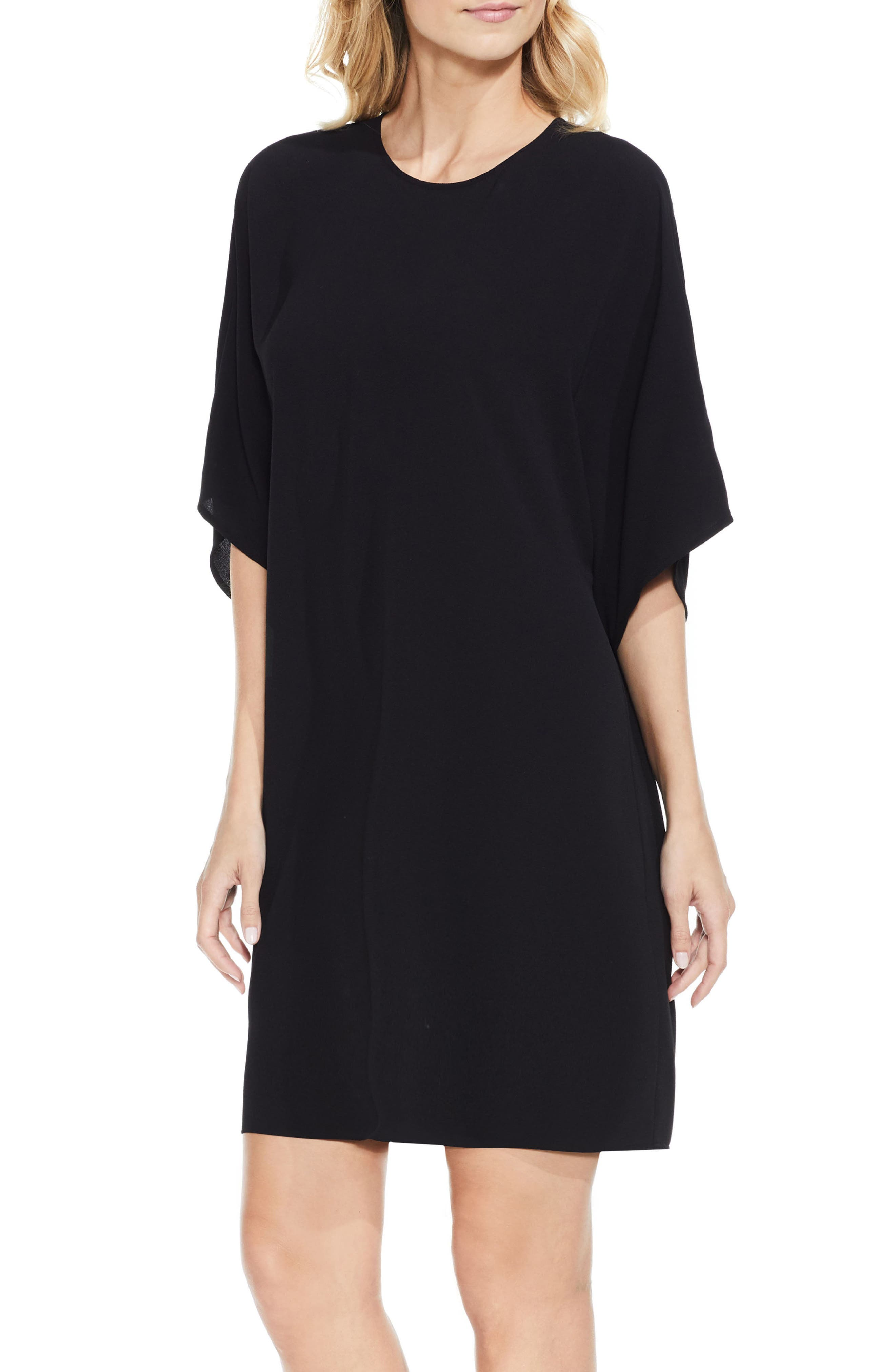 Dolman Sleeve Dress,                             Main thumbnail 1, color,                             Rich Black
