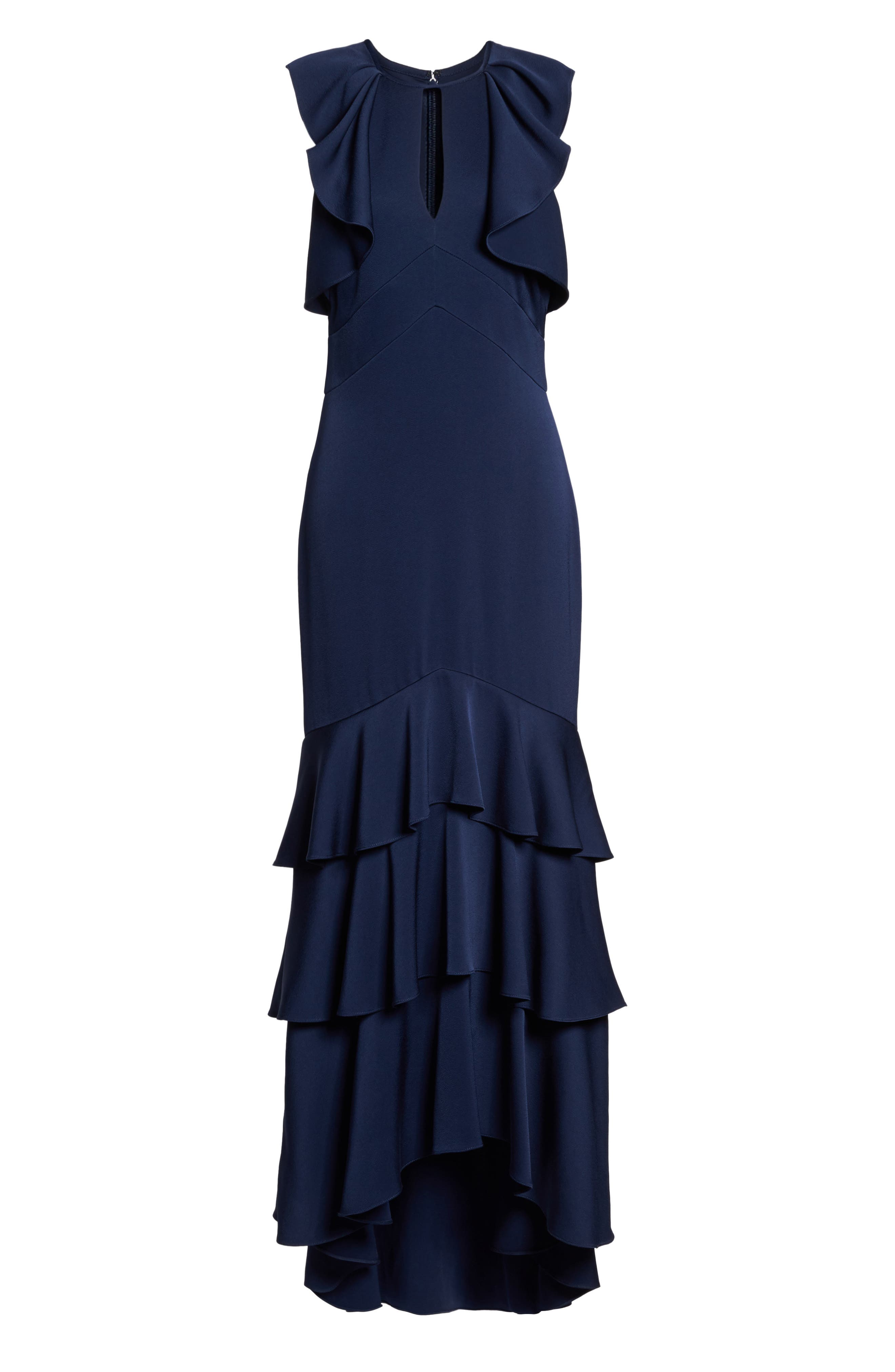 Alternate Image 6  - Shoshanna Daviot Ruffle Tiered Gown