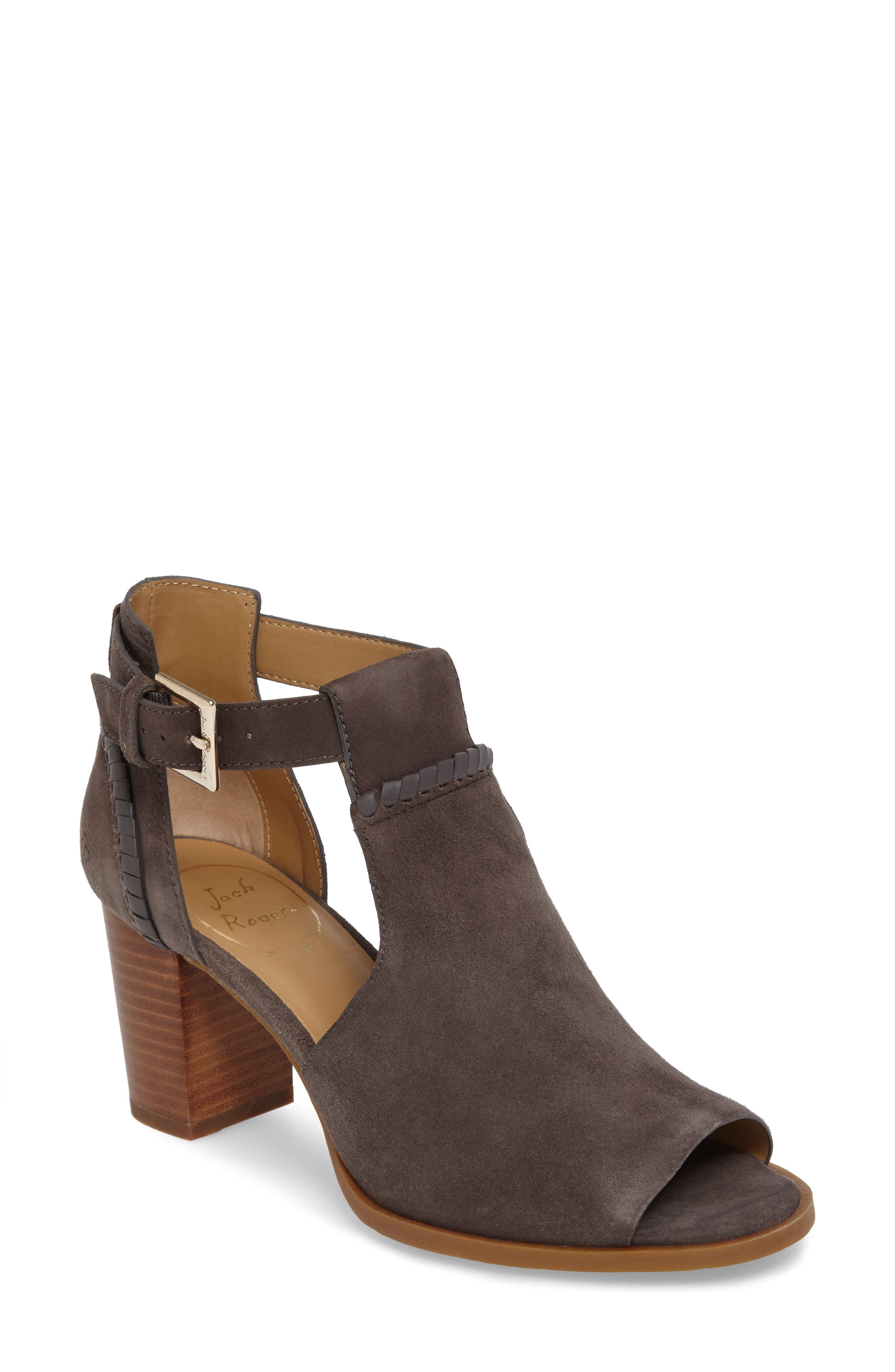 Cameron Block Heel Sandal,                             Main thumbnail 1, color,                             Charcoal Suede