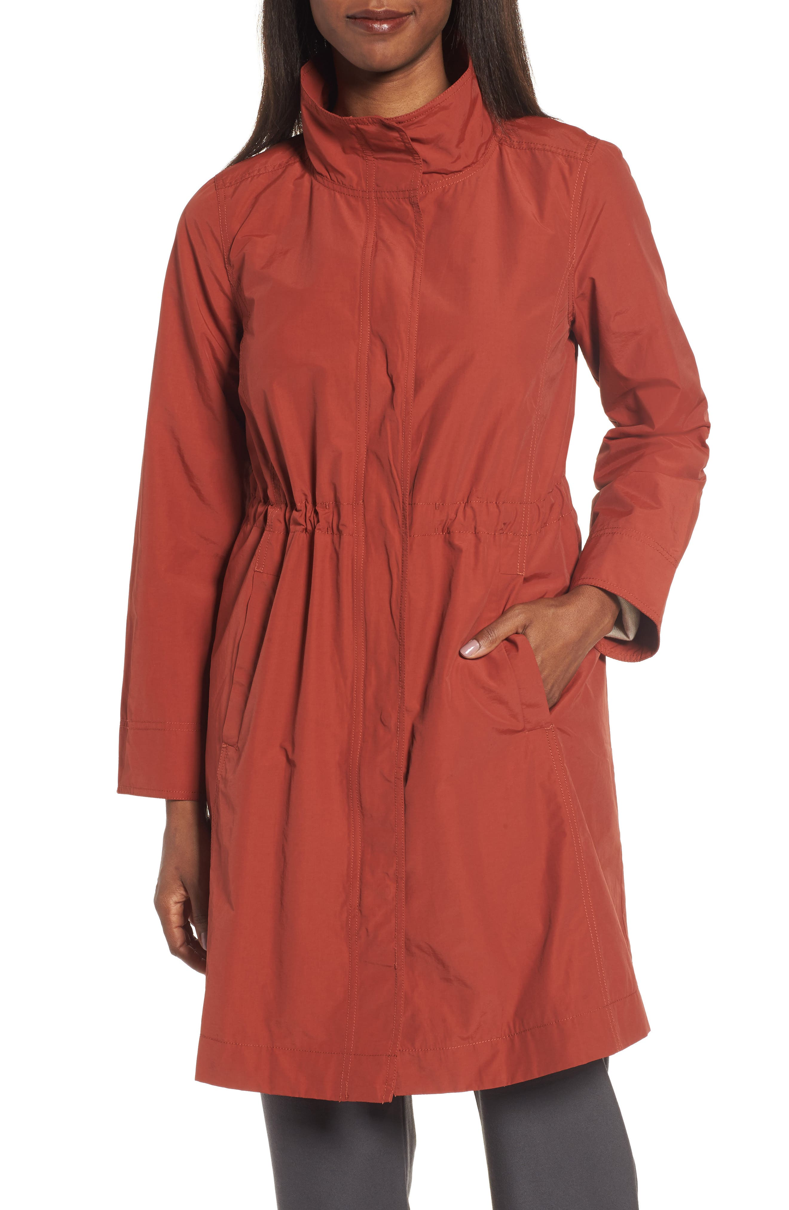 Alternate Image 4  - Eileen Fisher Long Organic Cotton Blend Jacket