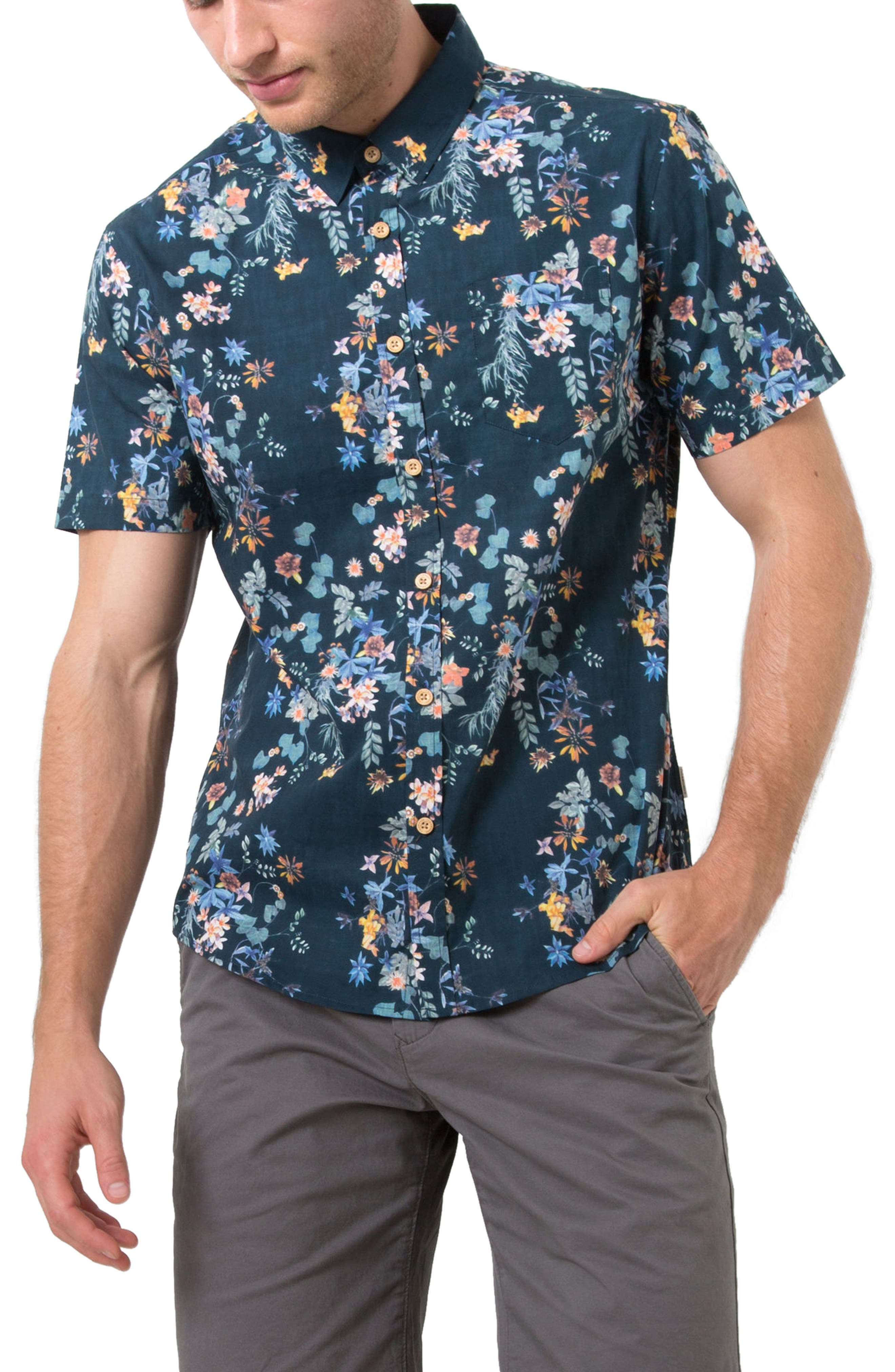 7 Diamonds Meadows Floral Print Shirt