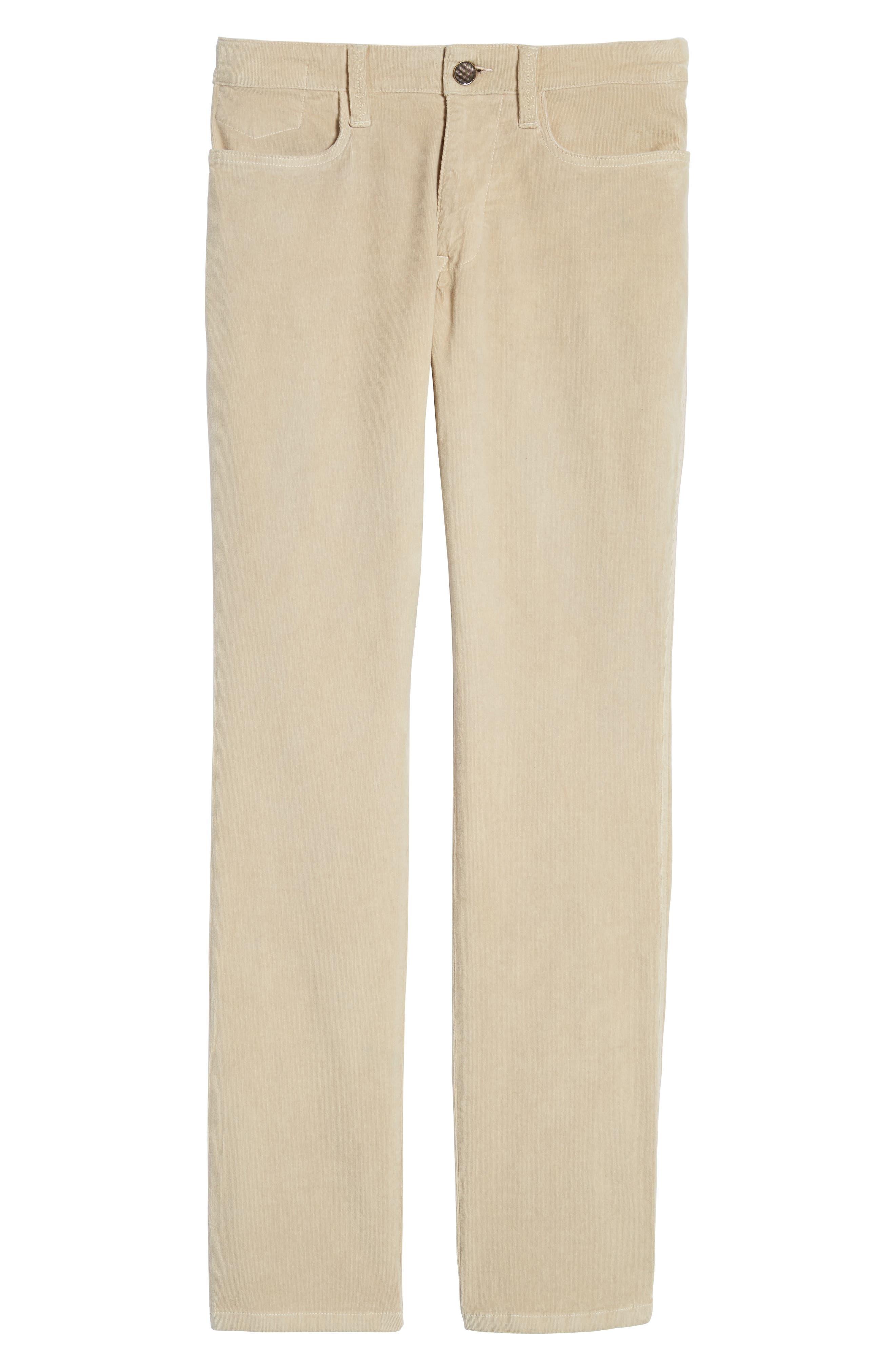 Modern Fit Stretch Corduroy Pants,                             Alternate thumbnail 6, color,                             Oatmeal