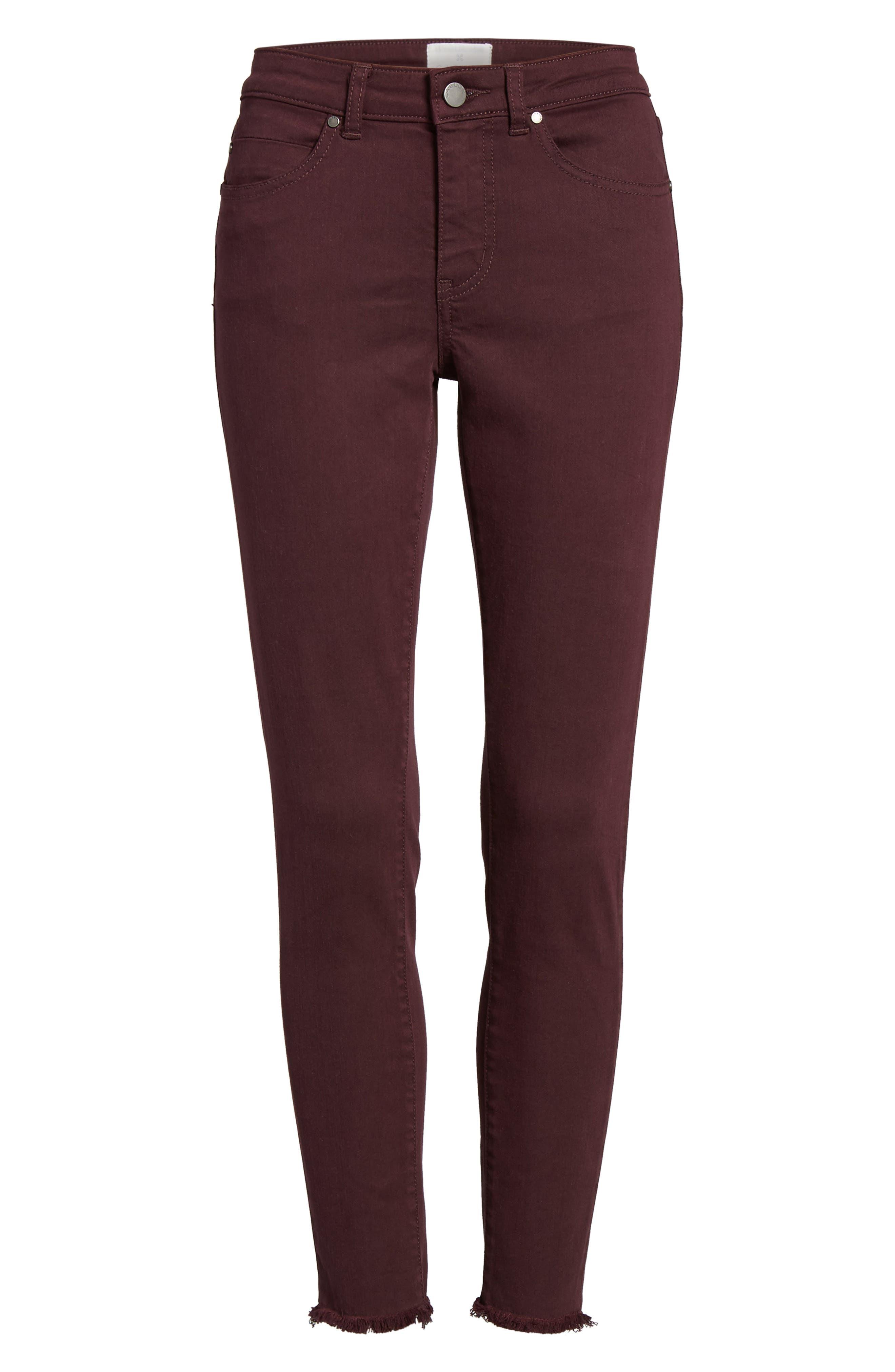 Alternate Image 6  - Caslon® Frayed Hem Skinny Ankle Jeans (Regular & Petite)