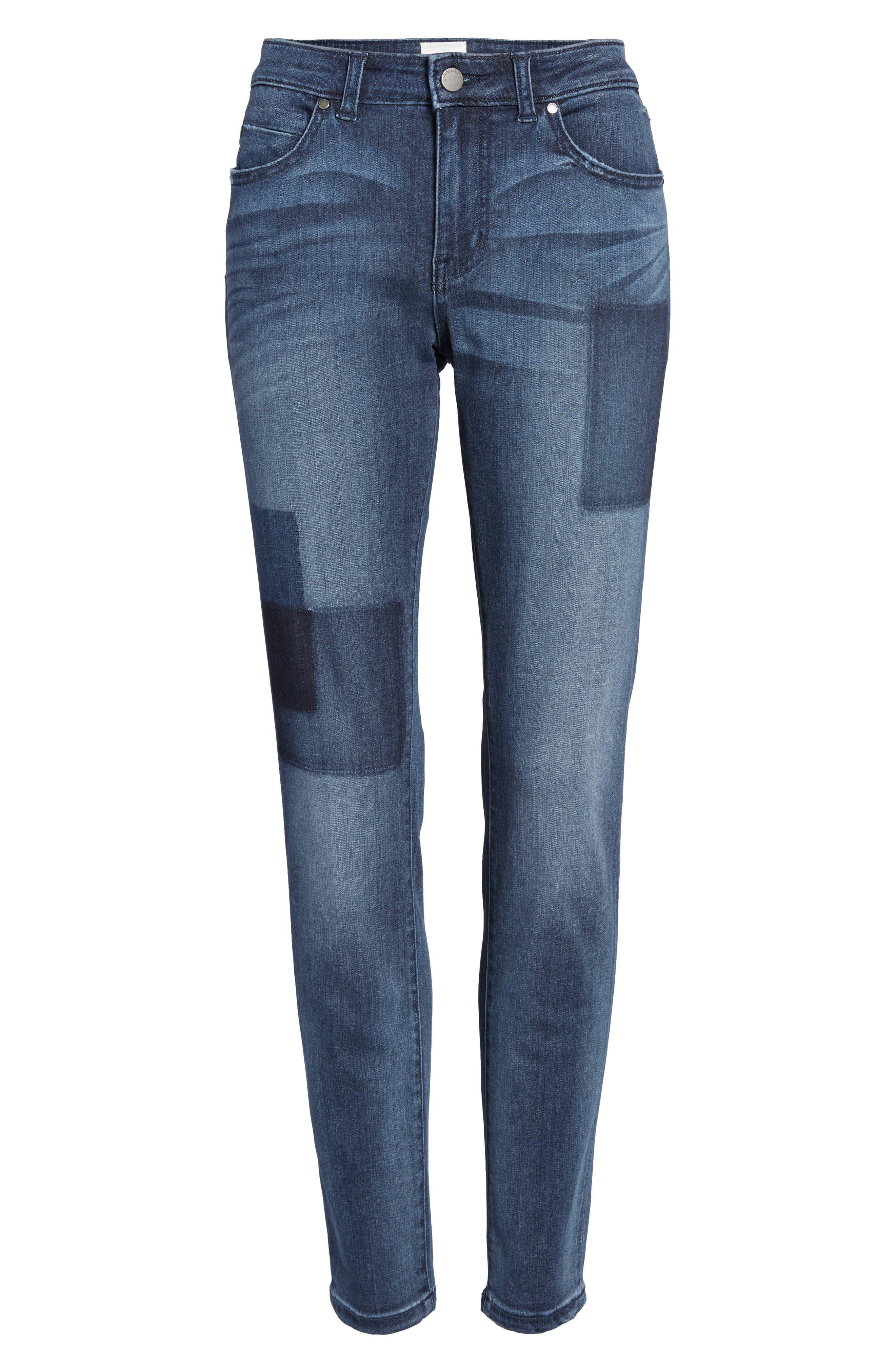 Alternate Image 7  - Caslon® Patchwork Skinny Jeans (Regular & Petite)