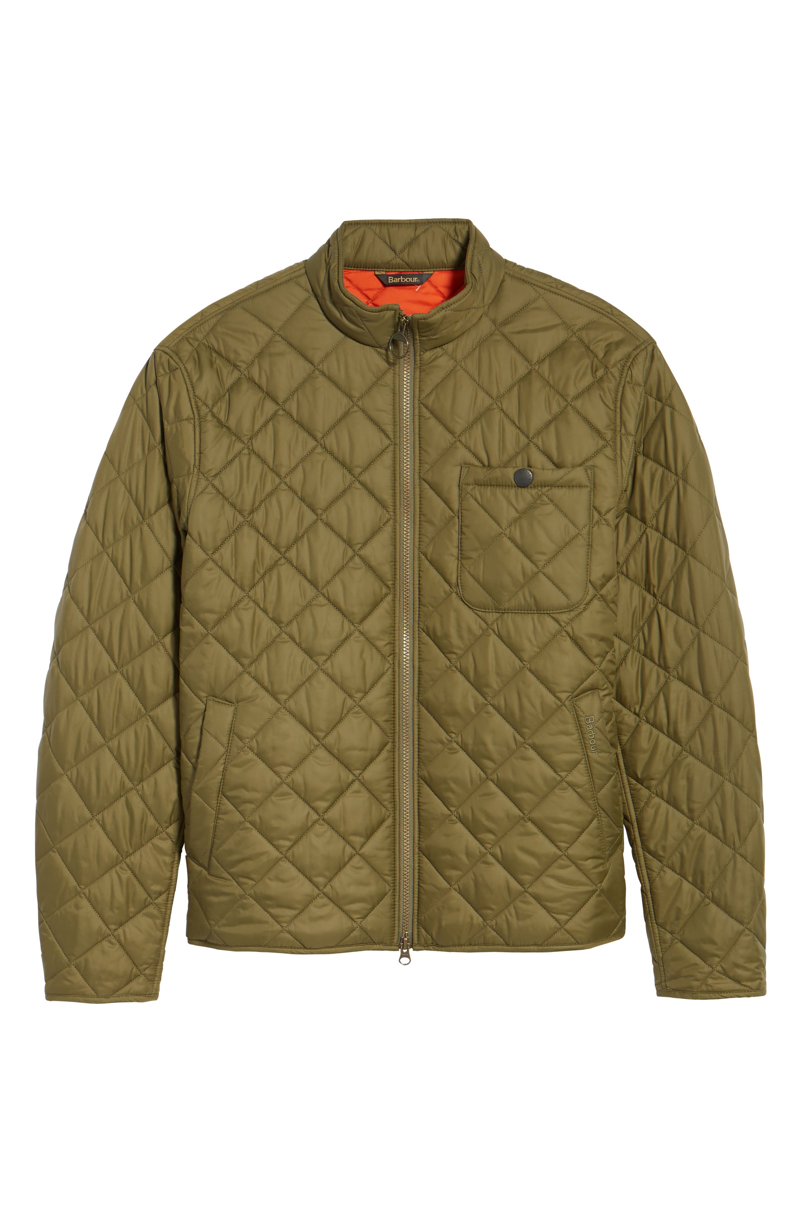 Pod Slim Fit Quilted Jacket,                             Alternate thumbnail 7, color,                             Olive