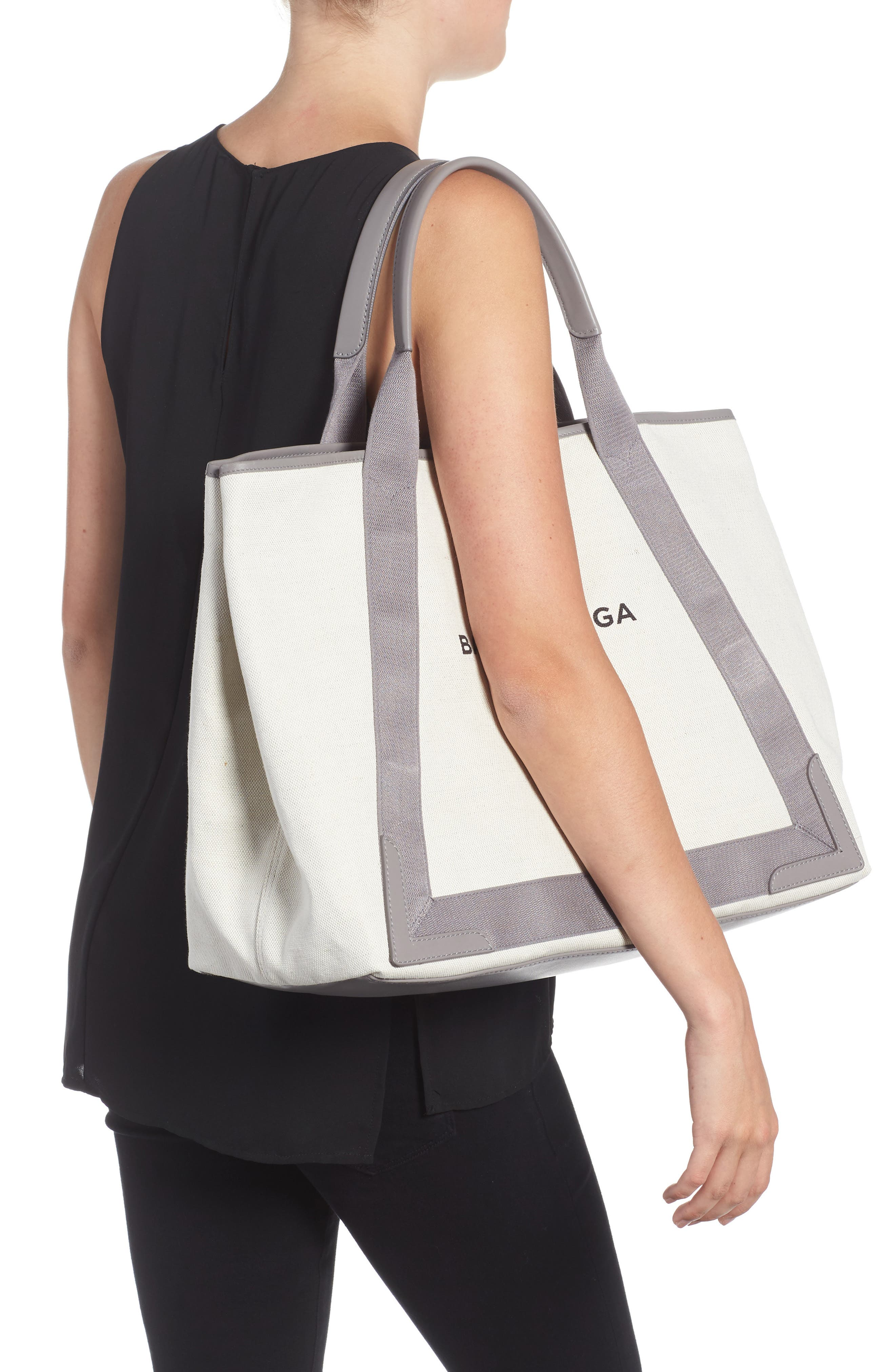 Medium Cabas Canvas Tote,                             Alternate thumbnail 2, color,                             2881 Gris Taupe/Nat/Grt