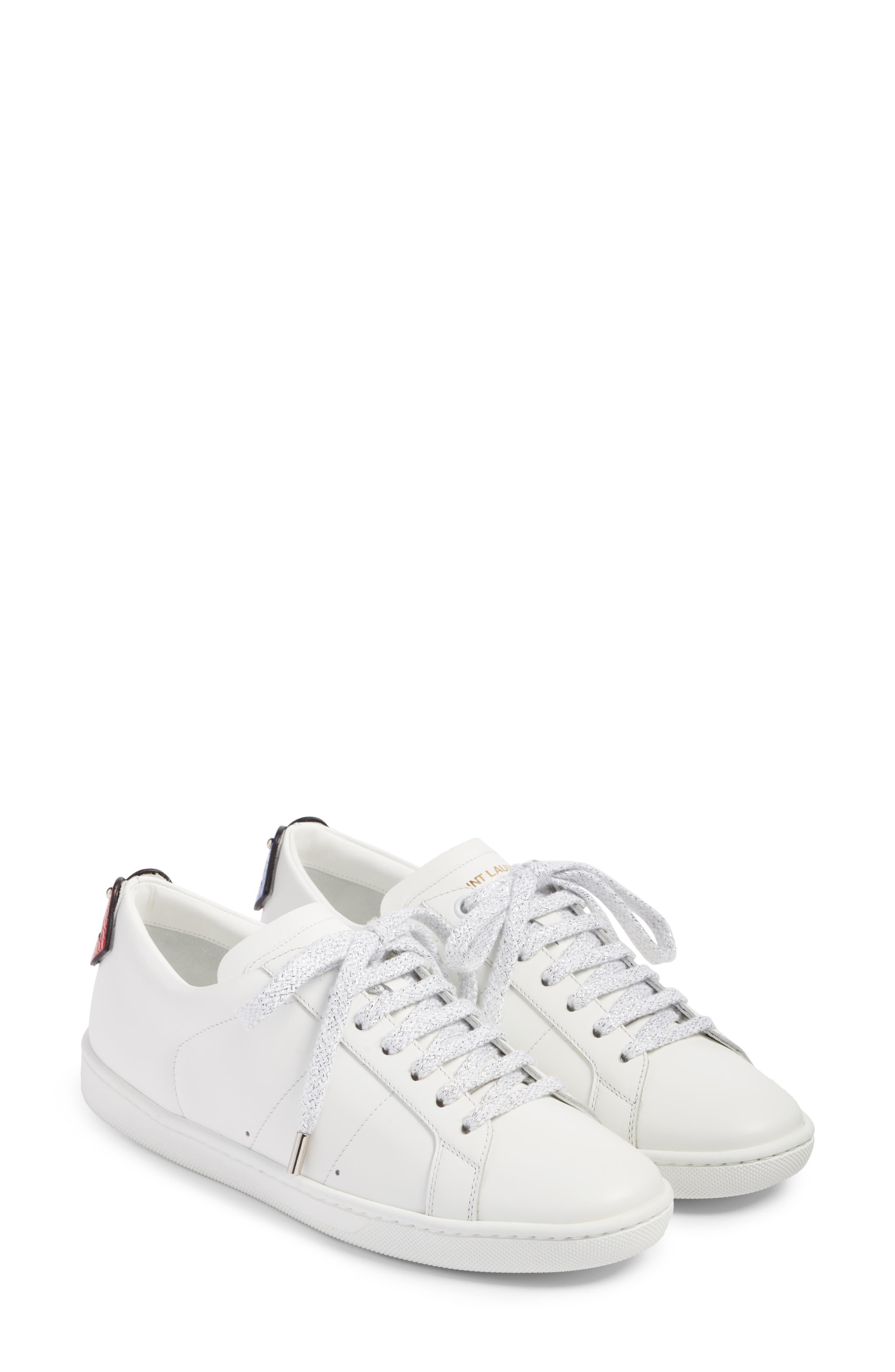 Saint Laurent Court Classic Lips Sneaker (Women)
