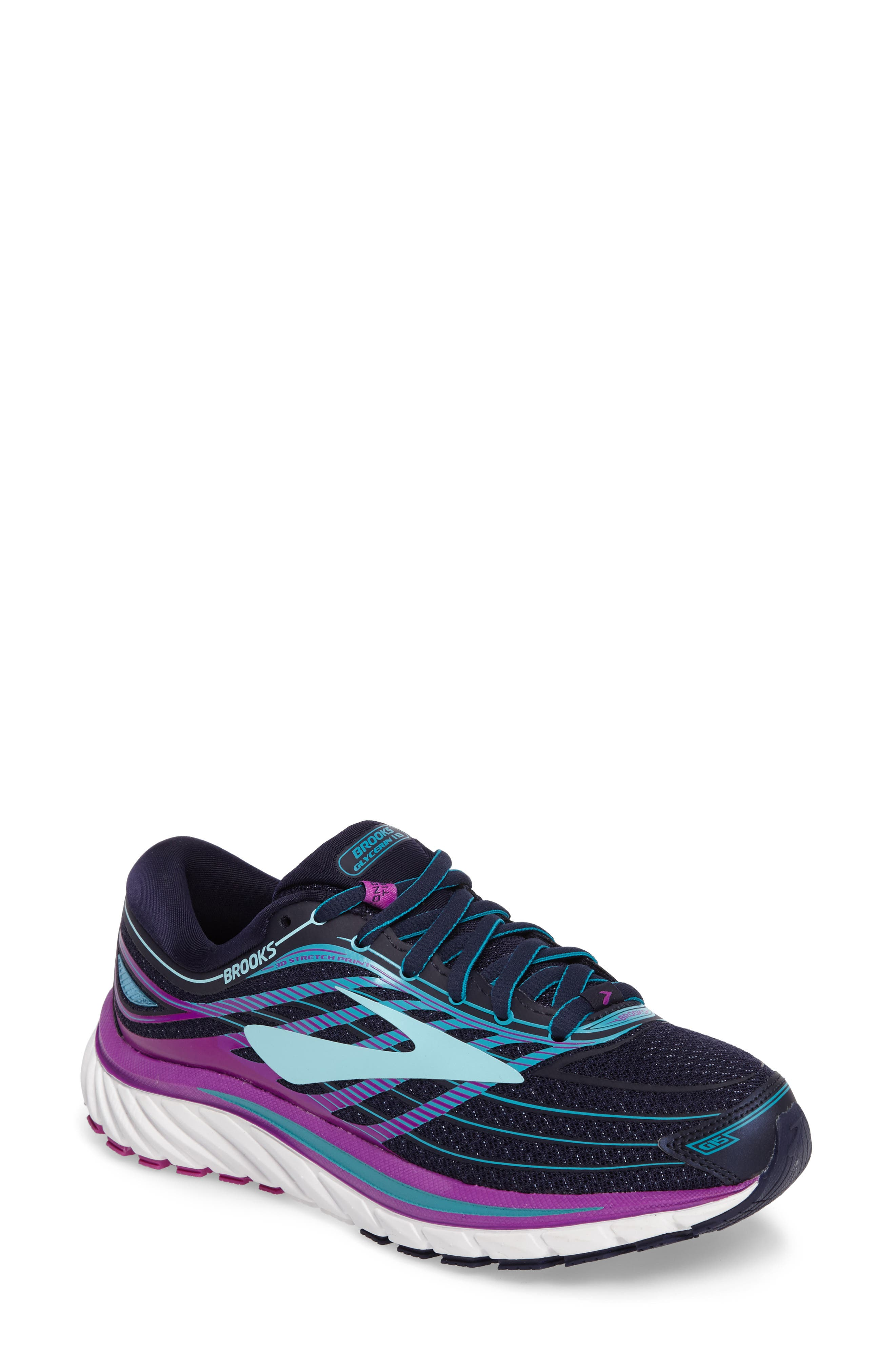 57d283431fc Brooks Glycerin 15 Running Shoe In Blue  Purple  Teal