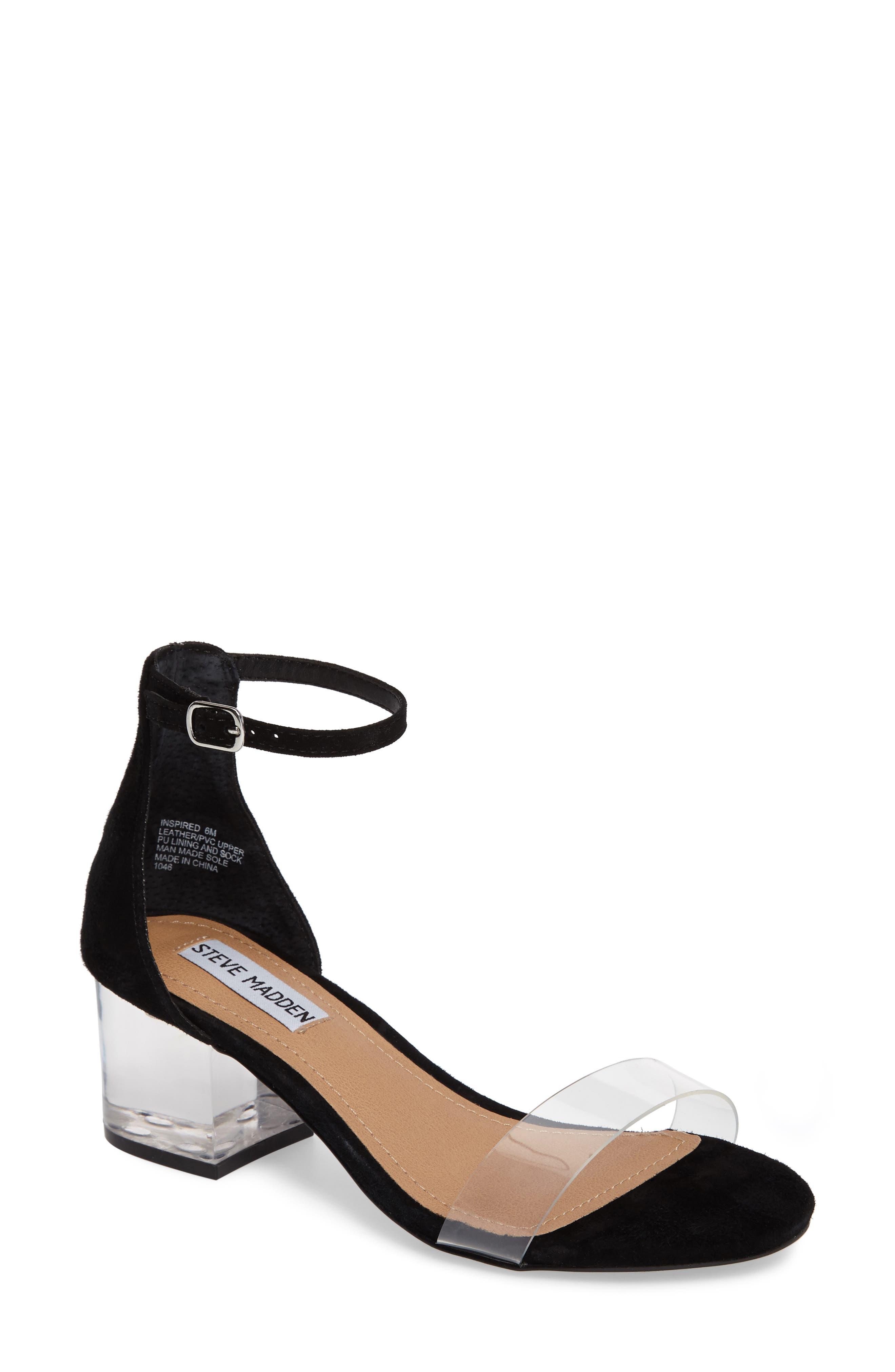 STEVE MADDEN Inspired Clear Heel Sandal