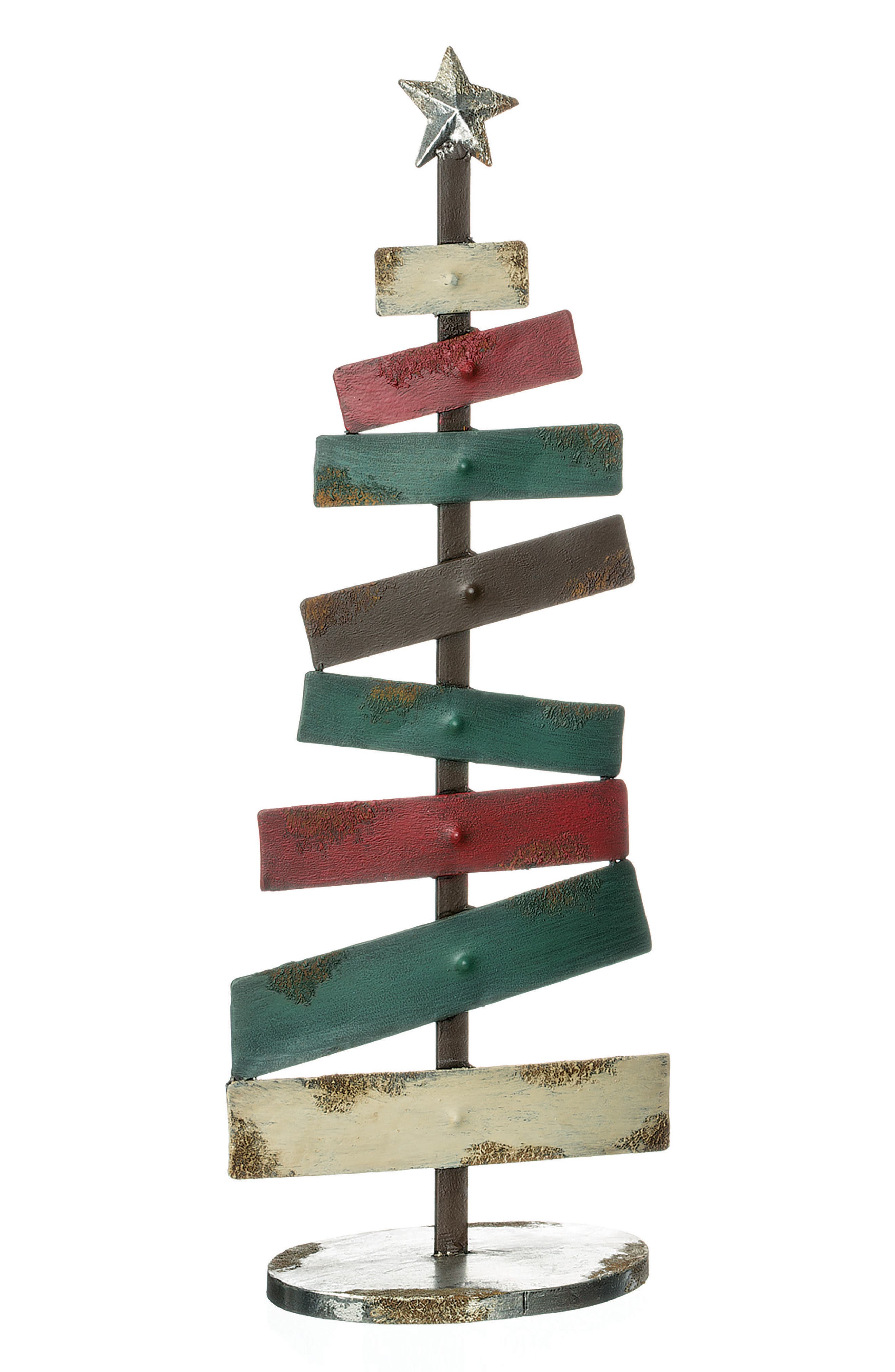 Metal Christmas Tree,                         Main,                         color, Red
