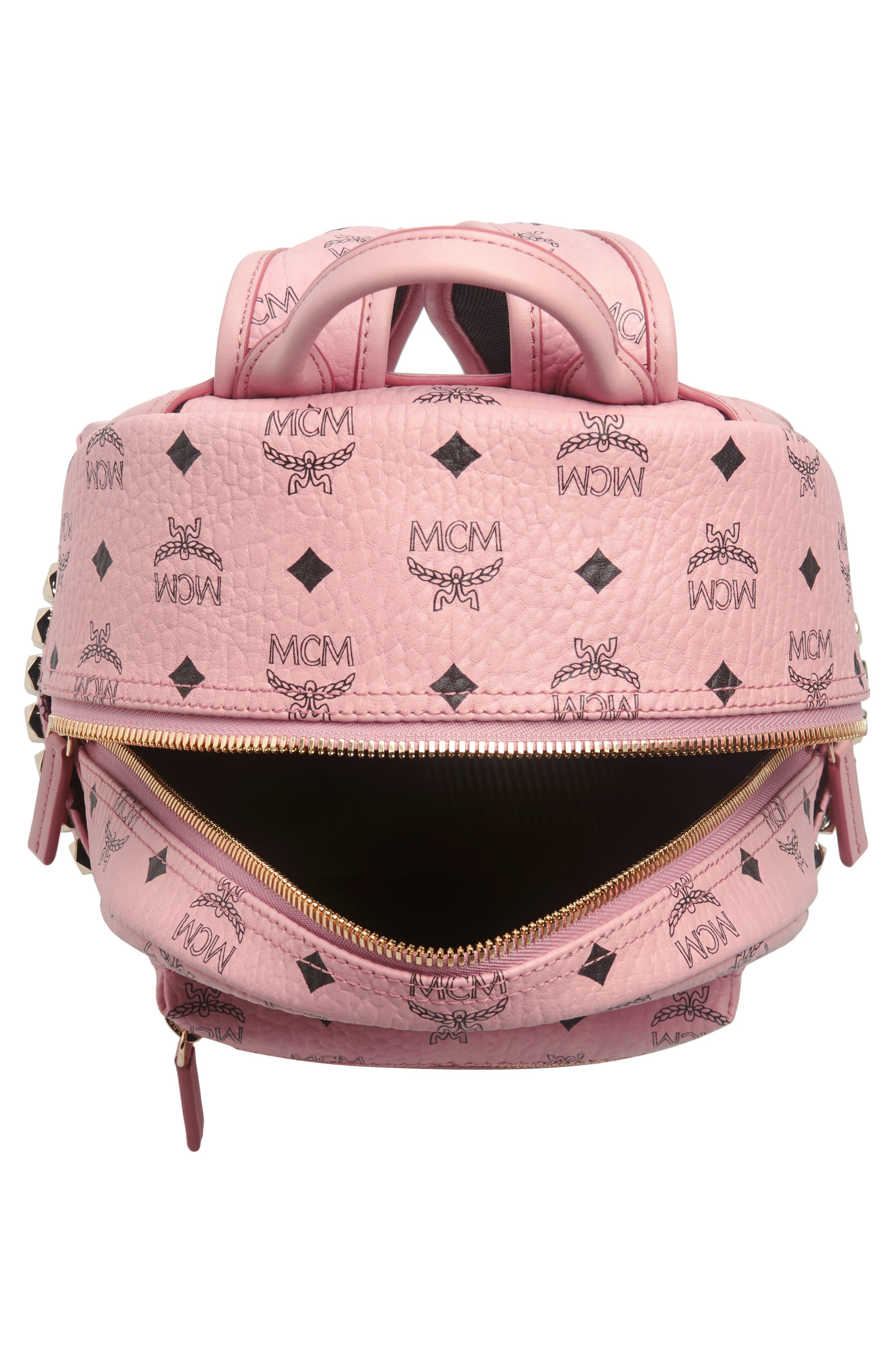 Alternate Image 4  - MCM Small Stark Side Stud Coated Canvas Backpack