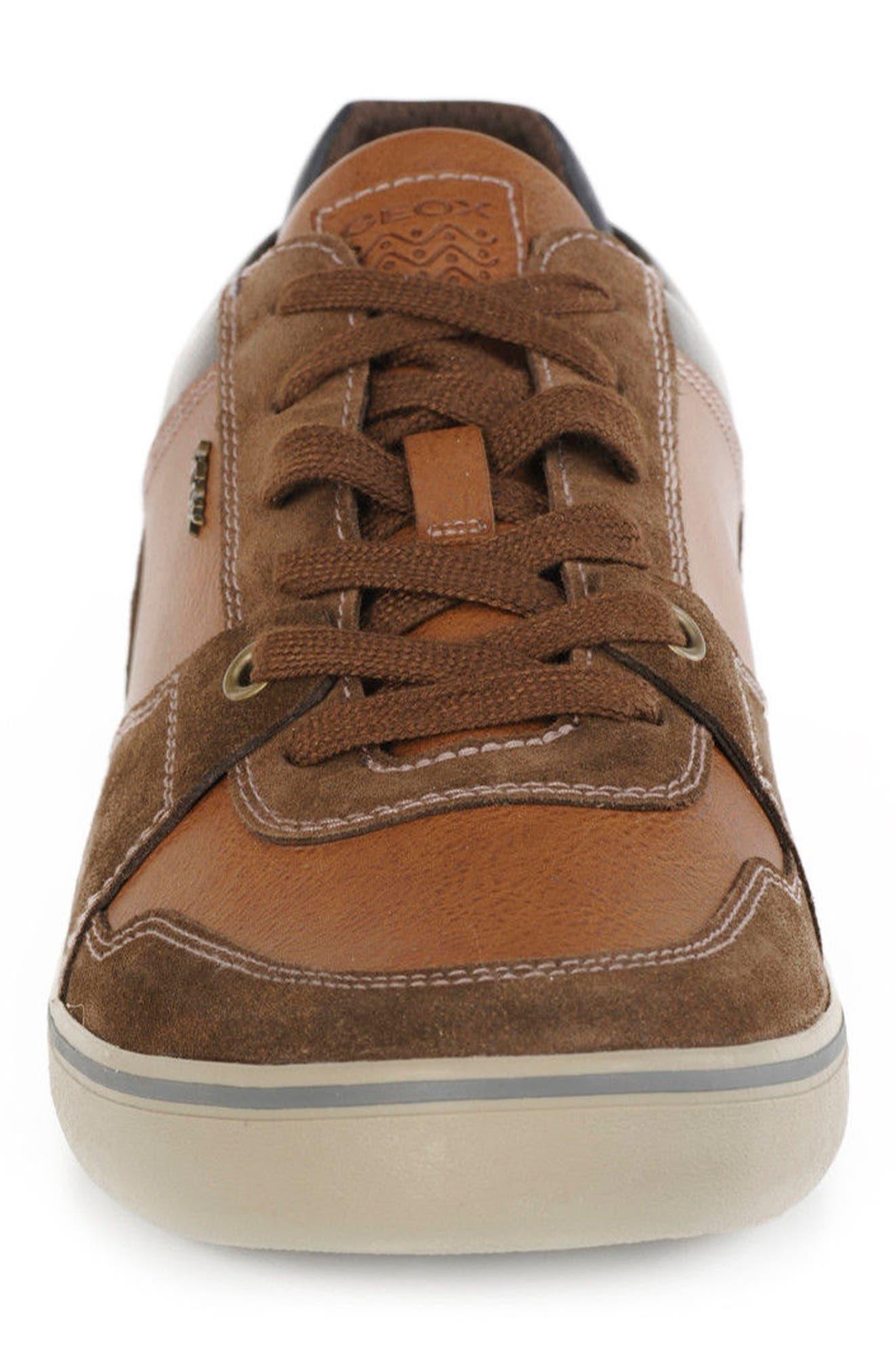 Box 27 Low-Top Sneaker,                             Alternate thumbnail 4, color,                             Ebony/ Brown Cotto