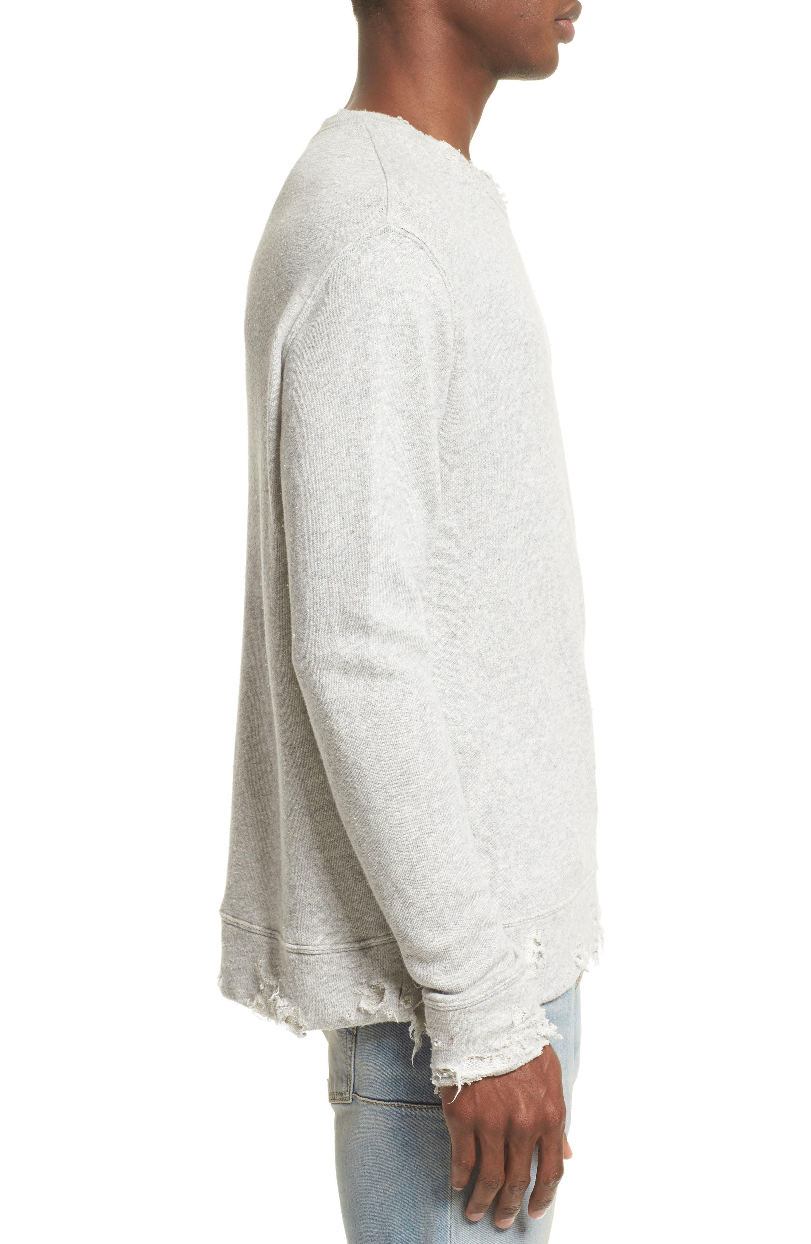 Alternate Image 3  - R13 Vintage Distressed Sweatshirt