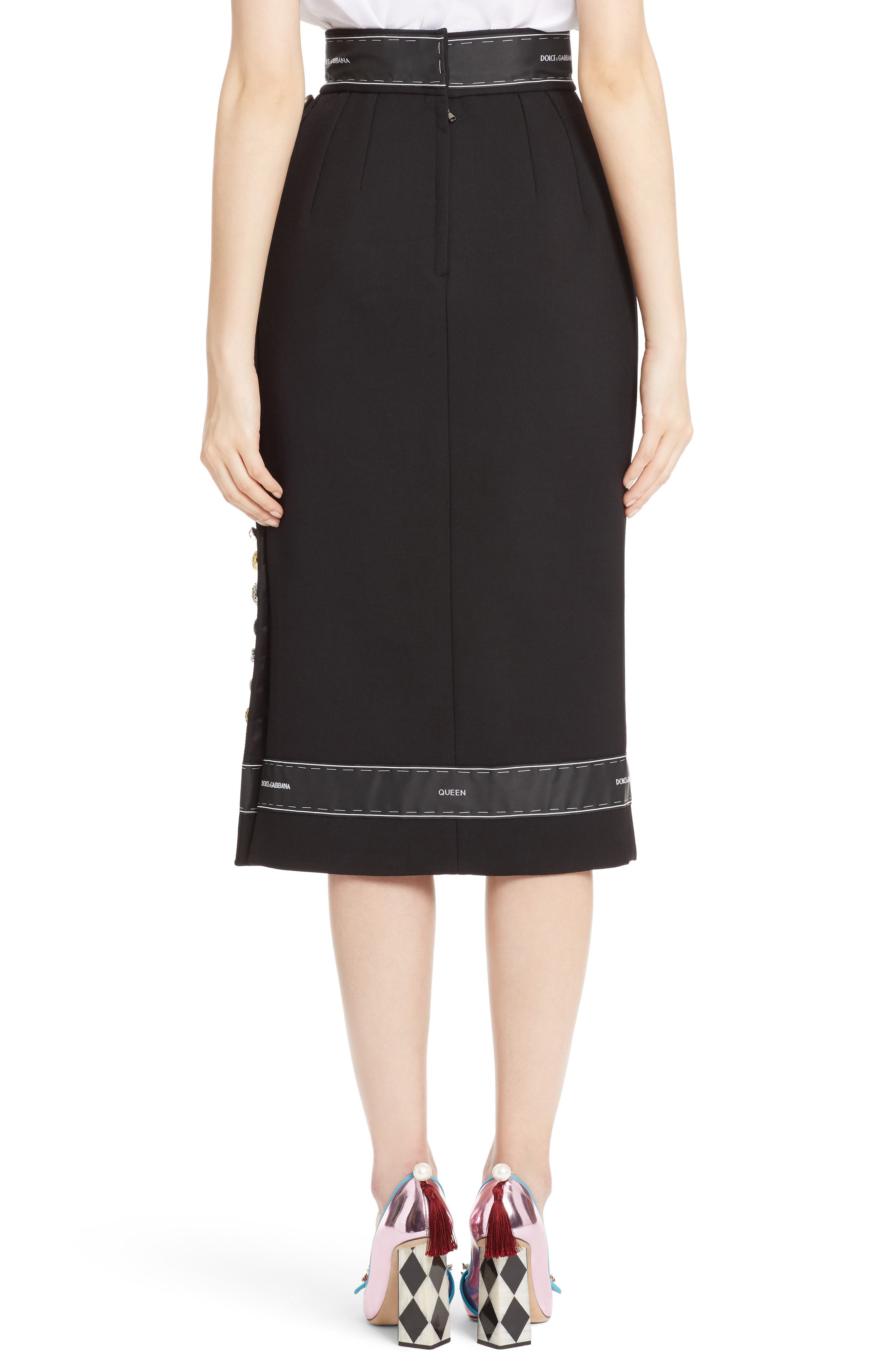 Alternate Image 2  - Dolce&Gabbana Ribbon Trim Pencil Skirt
