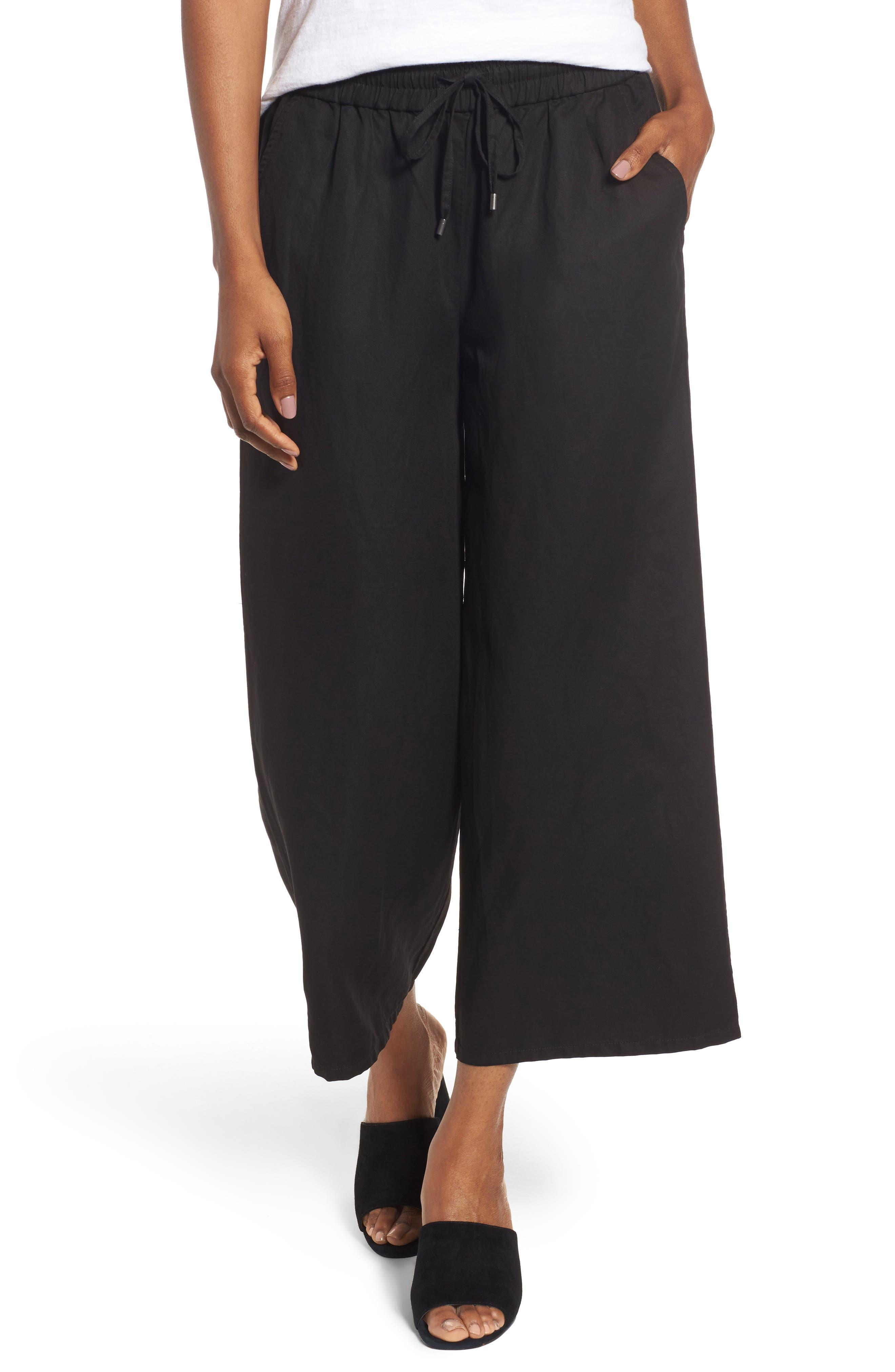Eileen Fisher Tencel® & Linen Crop Pants