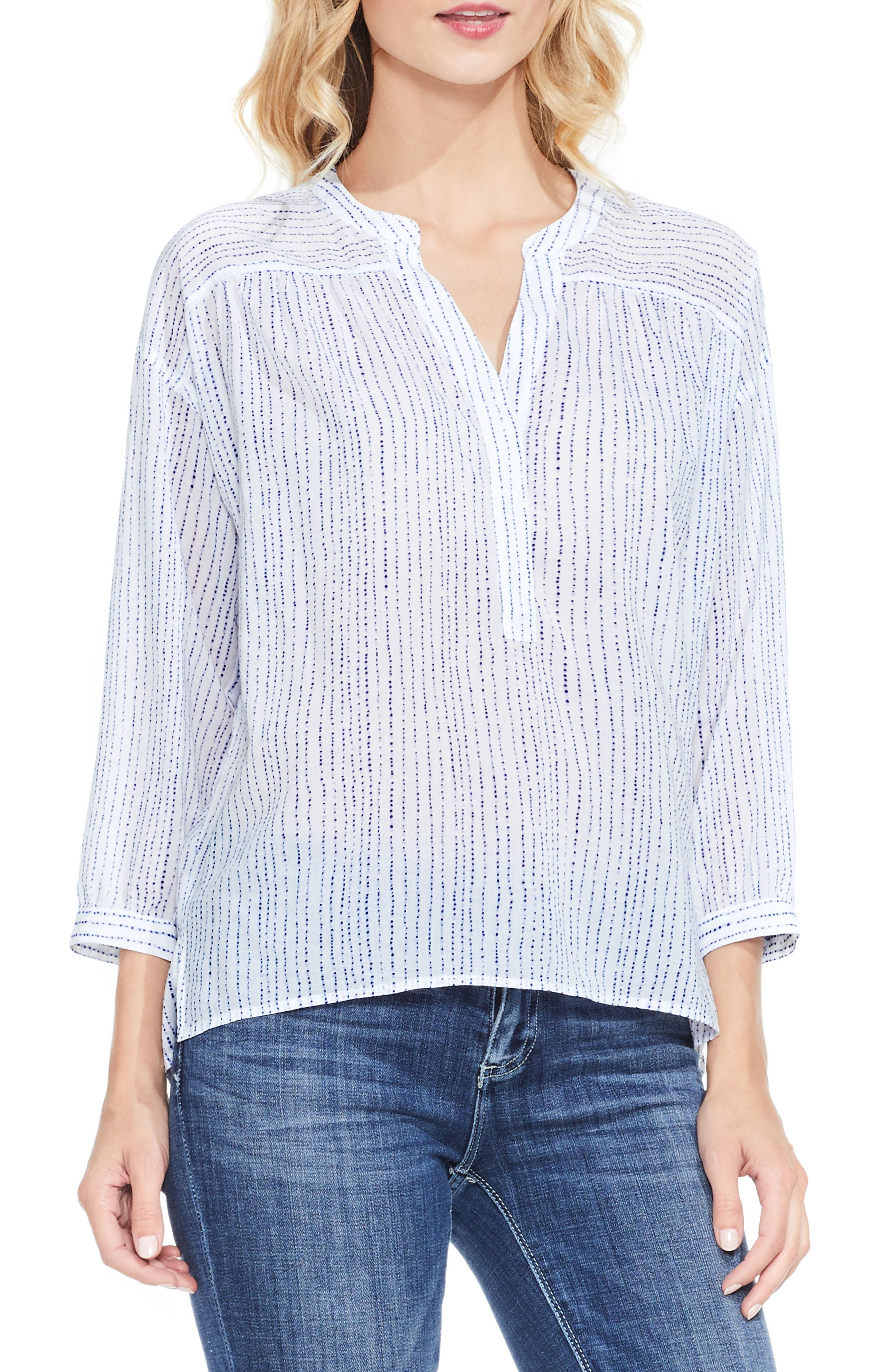 Two by Vince Camuto Dot Stripe Top