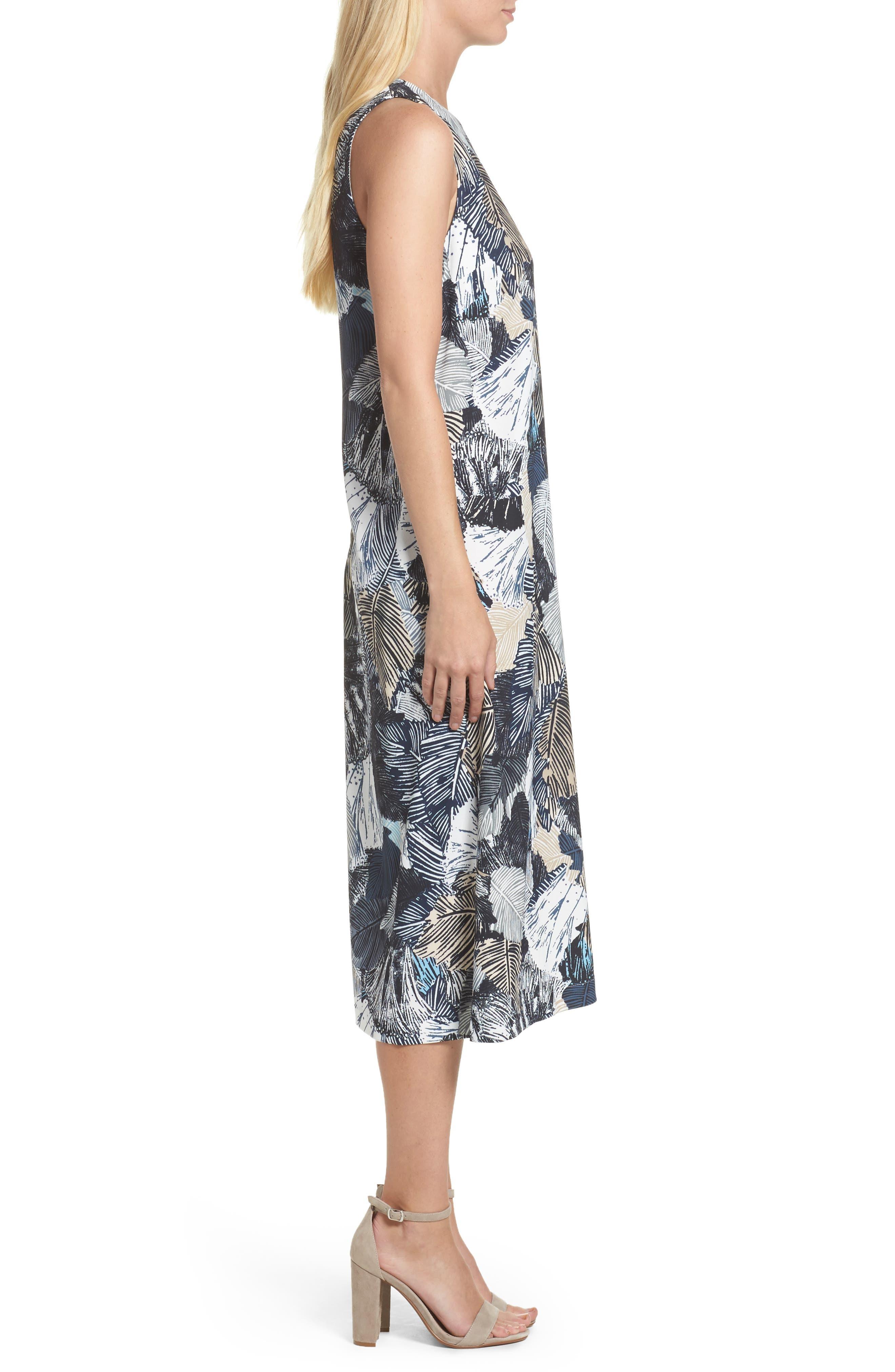 Lala Palm Culotte Jumpsuit,                             Alternate thumbnail 3, color,                             Summer White Multi
