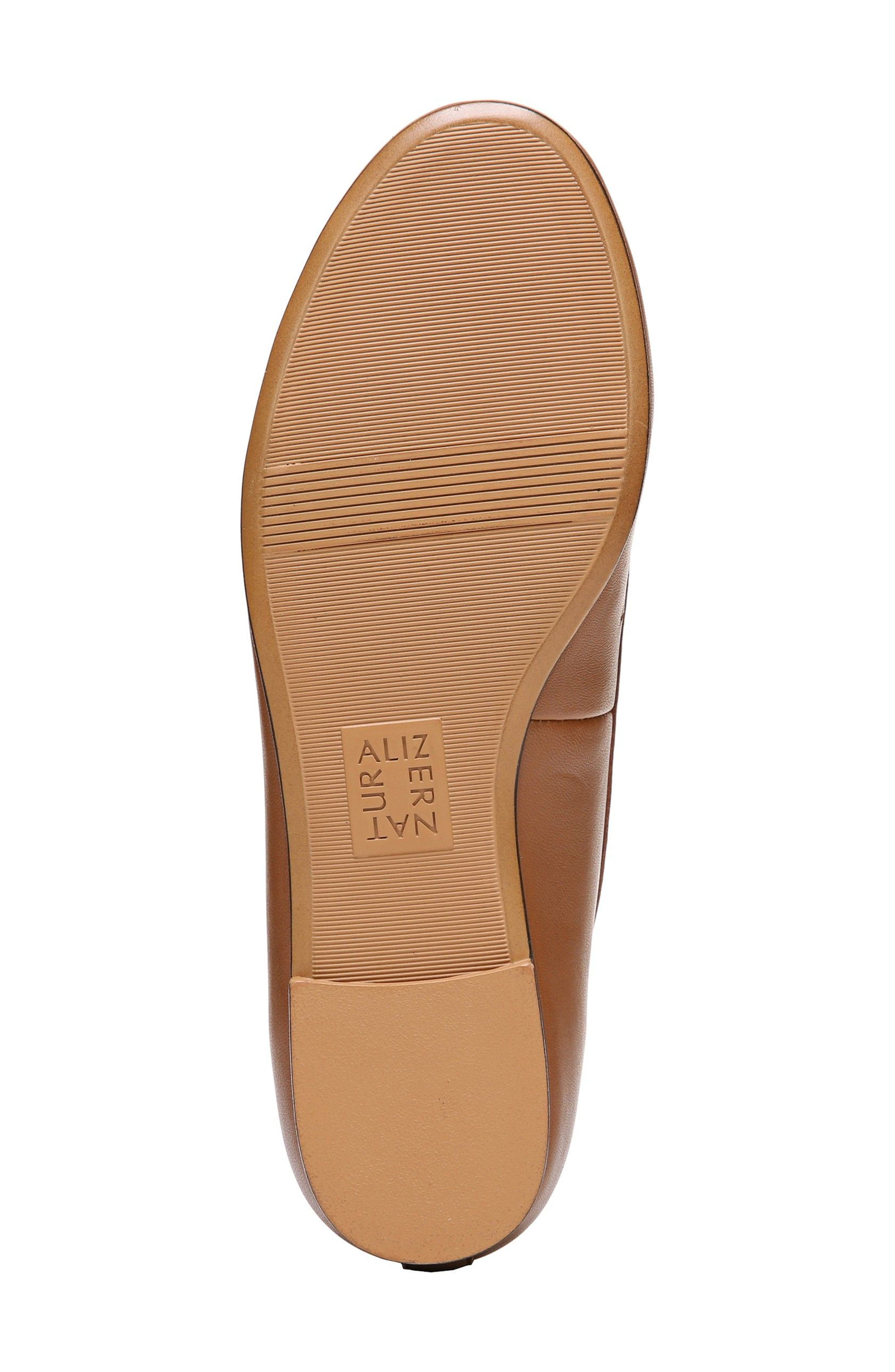 Grace Flat,                             Alternate thumbnail 6, color,                             Saddle Tan Leather