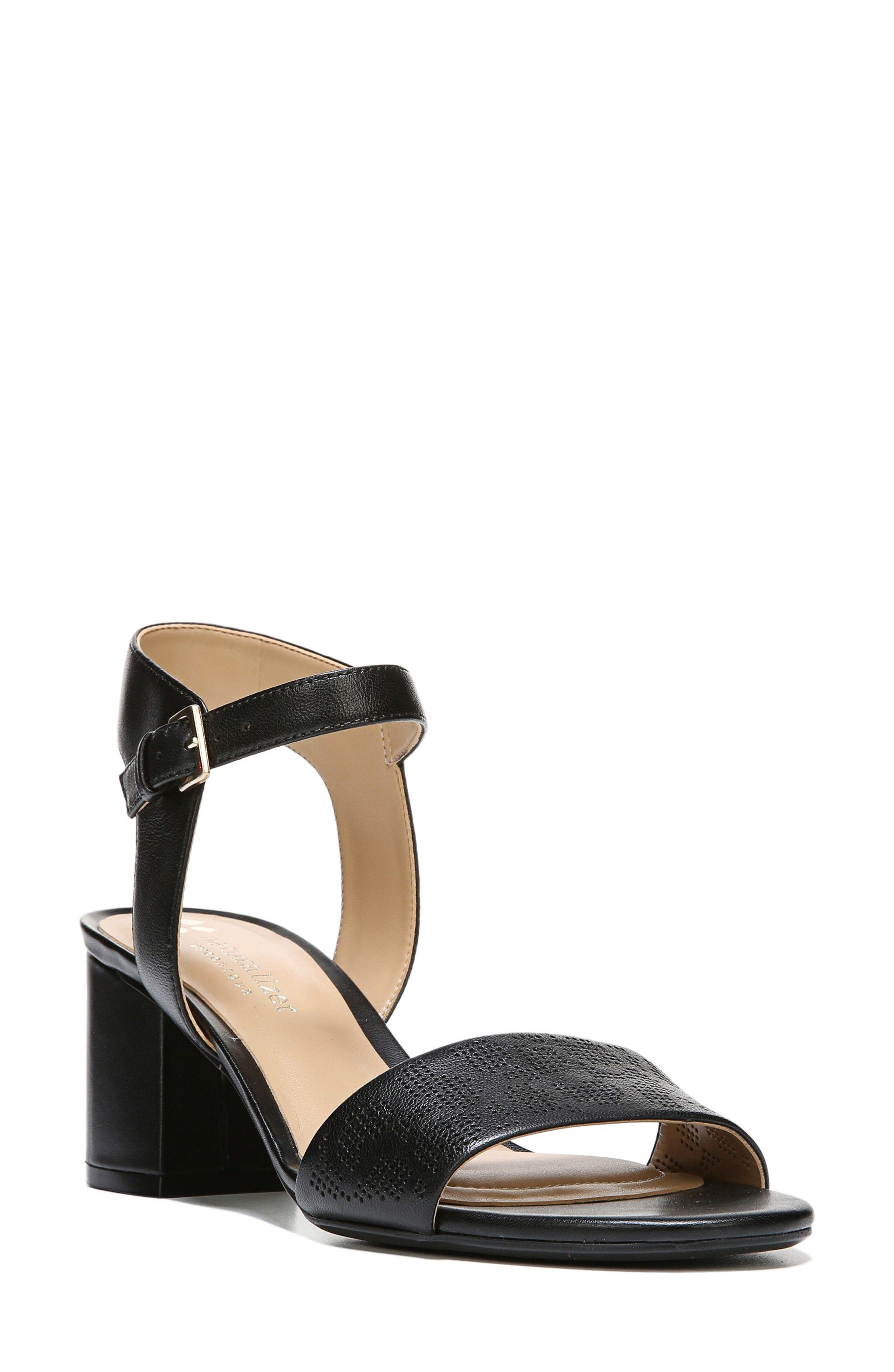 NATURALIZER Caitlyn Perforated Ankle Strap Sandal