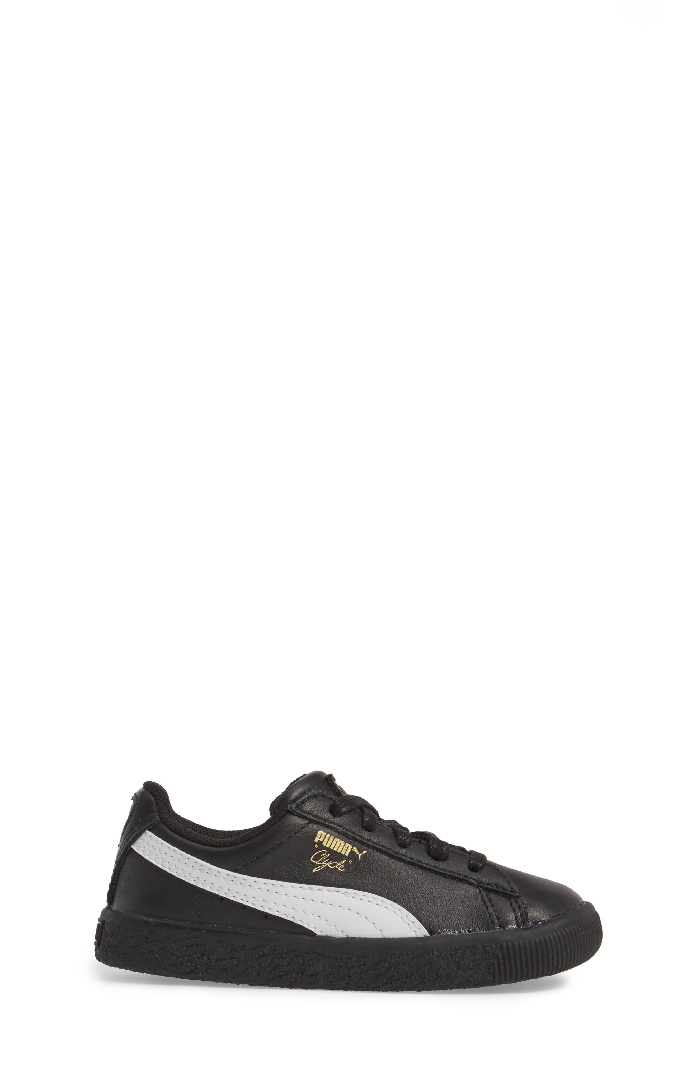 Alternate Image 3  - PUMA Clyde Core Foil Sneaker (Baby, Walker & Toddler)