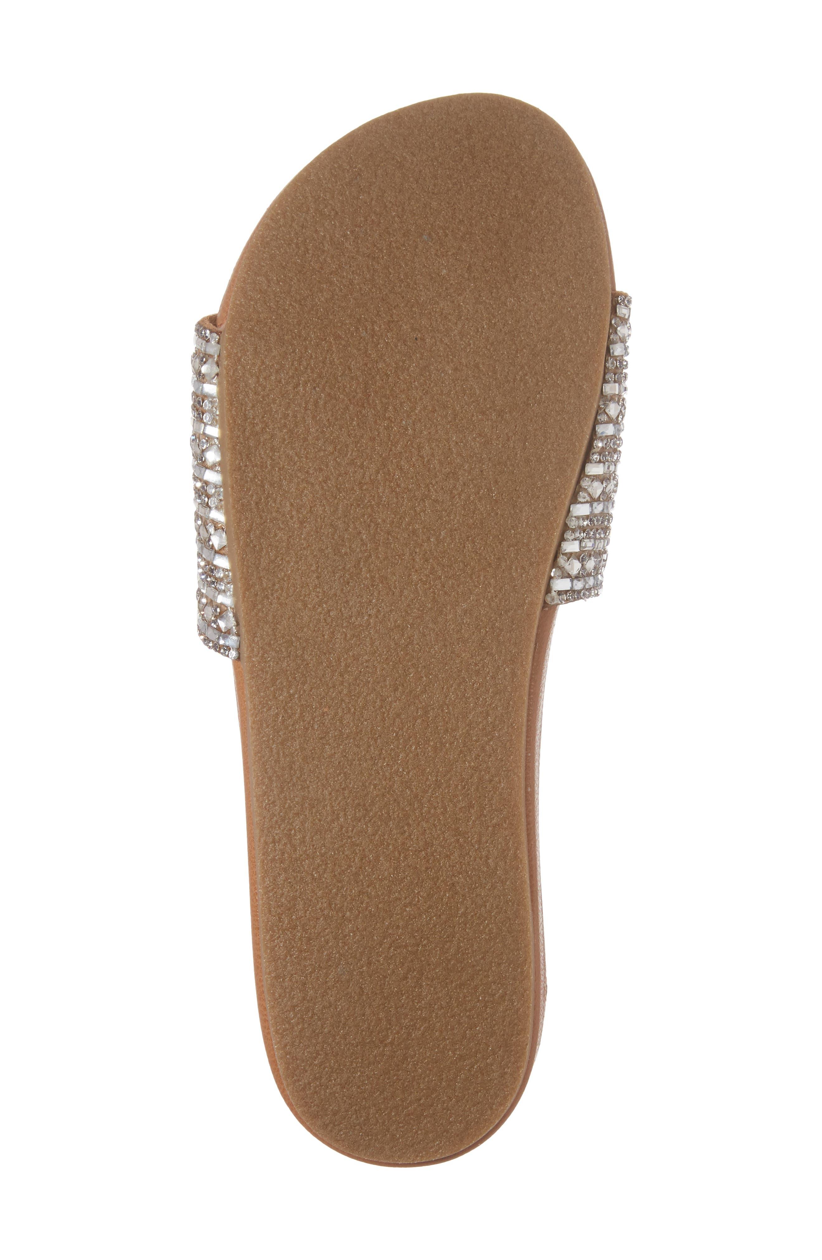 Dazzle Embellished Slide Sandal,                             Alternate thumbnail 6, color,                             Rhinestone