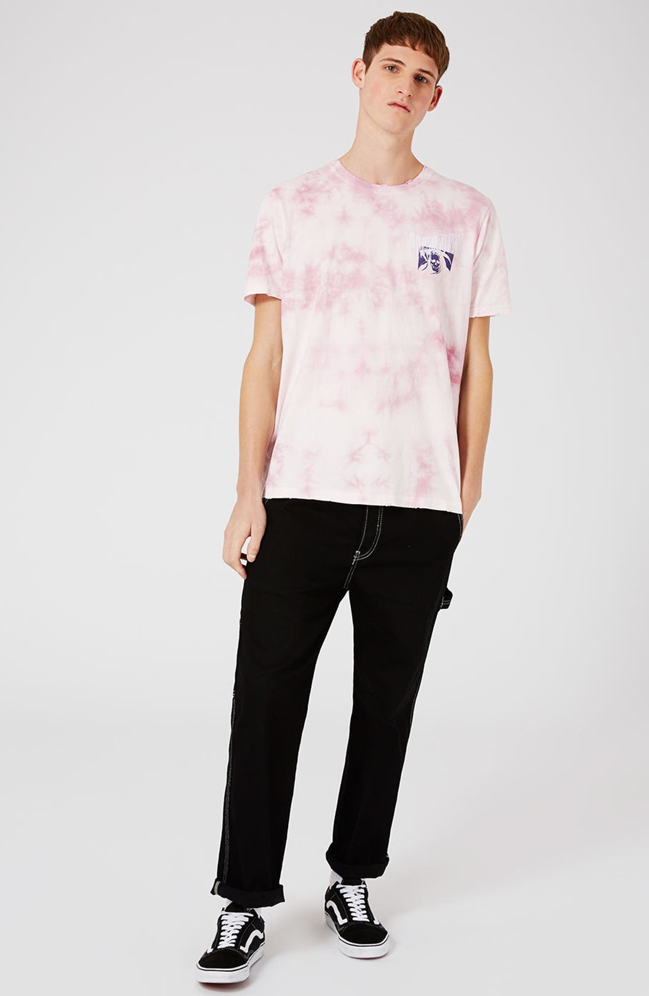 Oversize Unknown Graphic T-Shirt,                             Alternate thumbnail 2, color,                             Pink