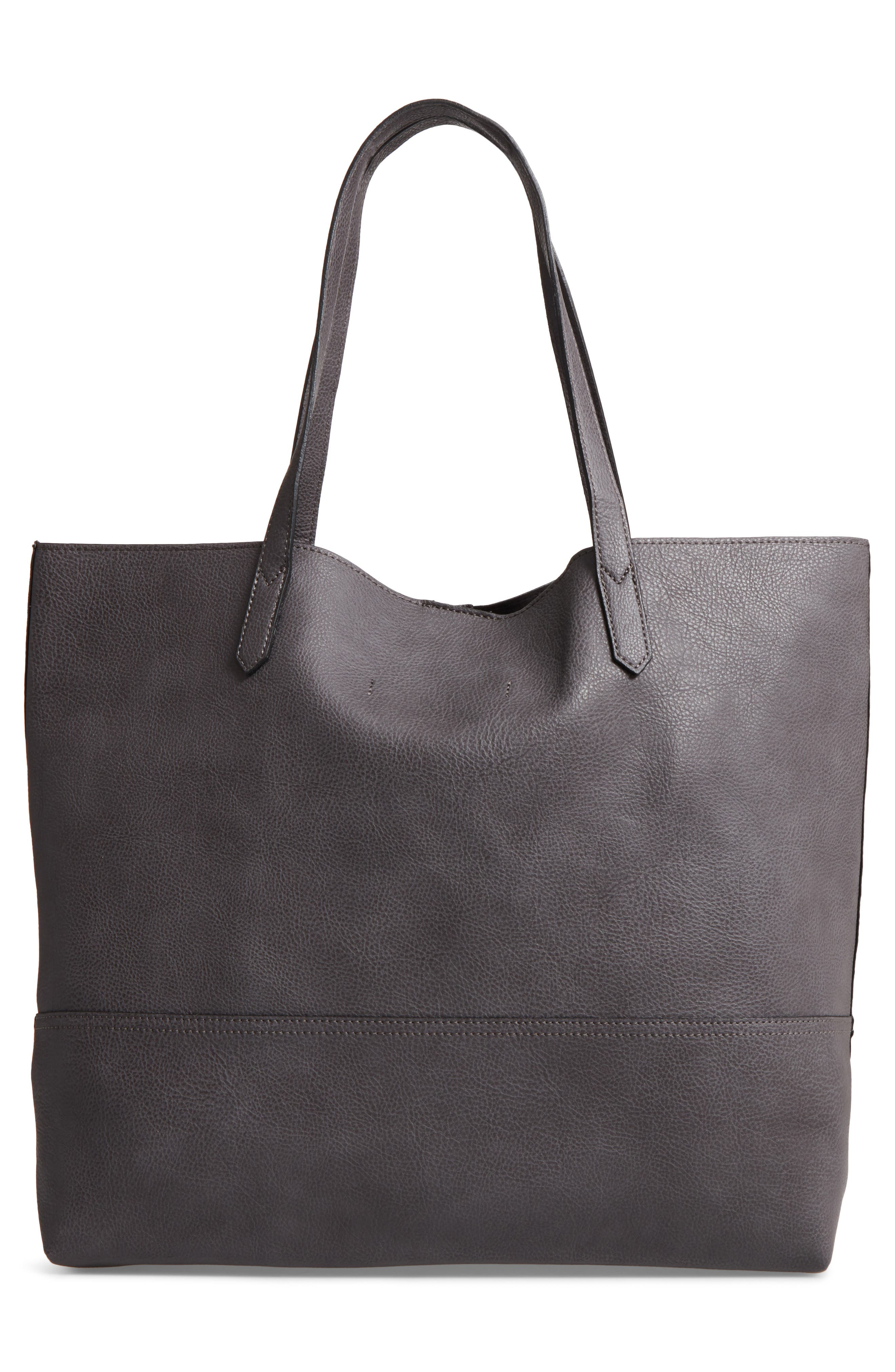 Alternate Image 2  - Sole Society Dawson Oversize Faux Leather Shopper