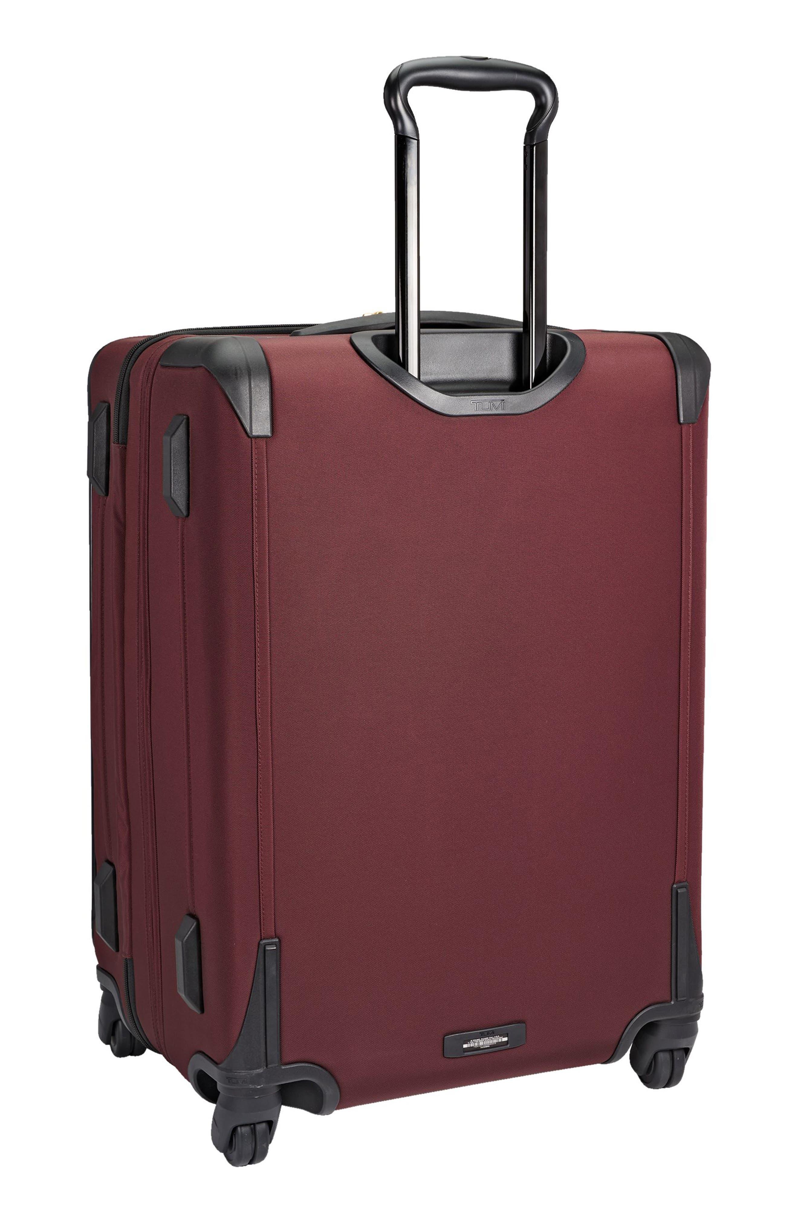 Jess Short Trip Expandable 26-Inch 4-Wheel Suitcase,                             Alternate thumbnail 3, color,                             Bordeaux