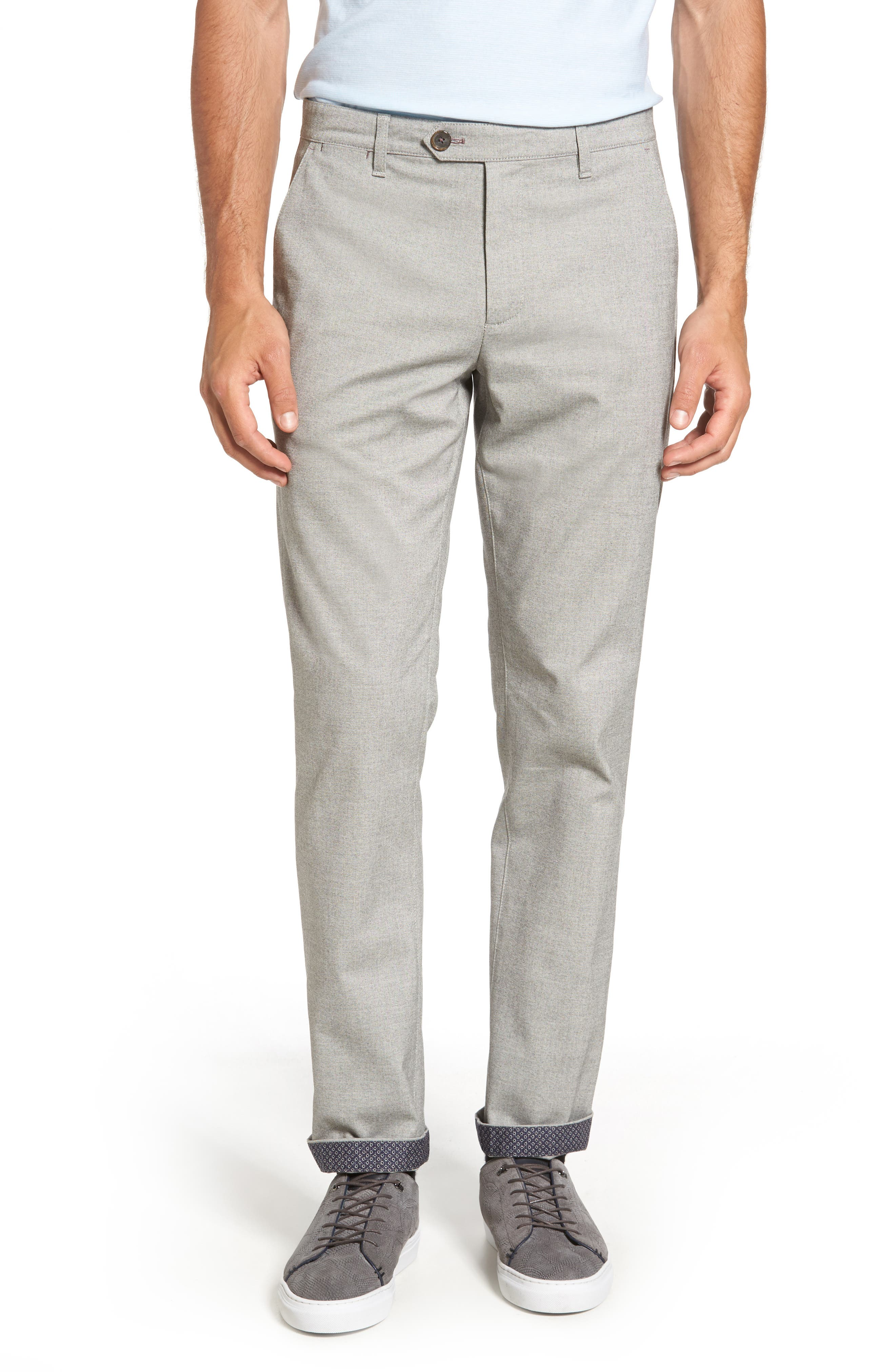 Volvek Classic Fit Trousers,                         Main,                         color, Grey