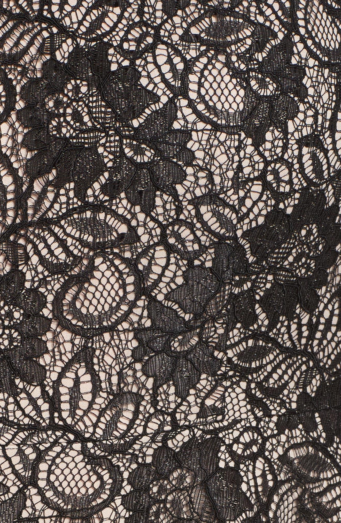 Alternate Image 5  - Alex Evenings Collarless Metallic Lace Jacket (Plus Size)