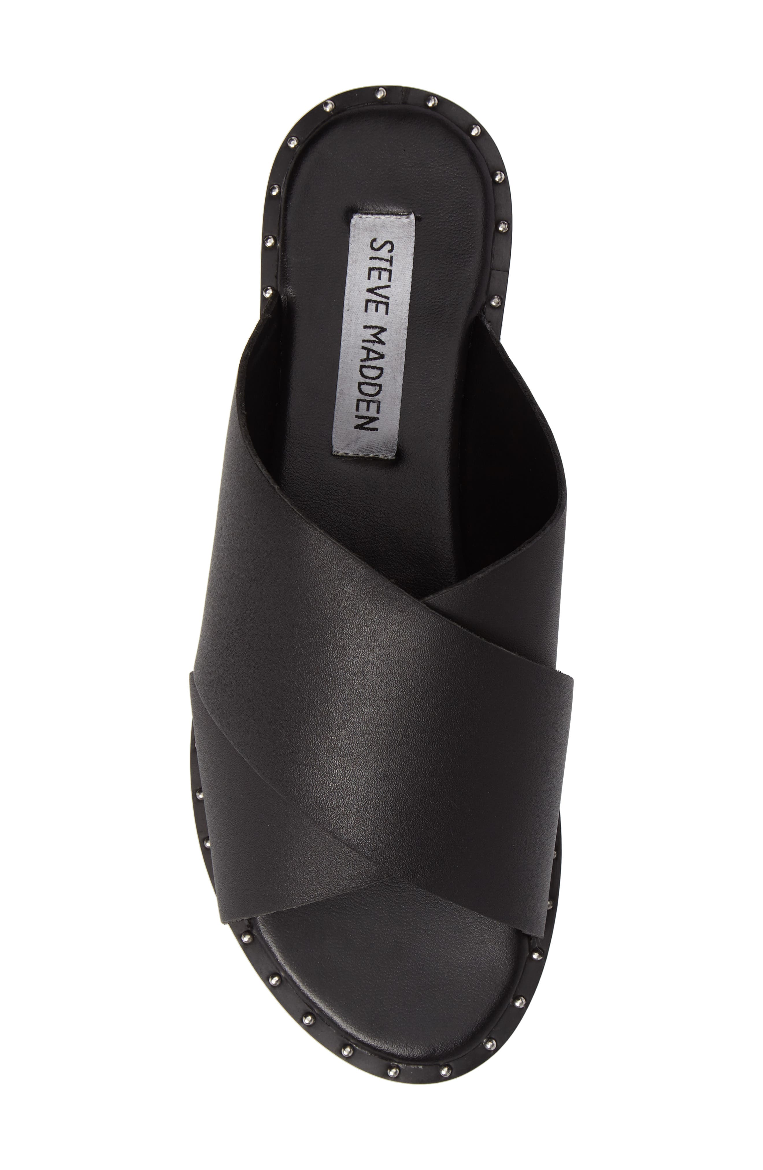 Alpha Slide Sandal,                             Alternate thumbnail 5, color,                             Black