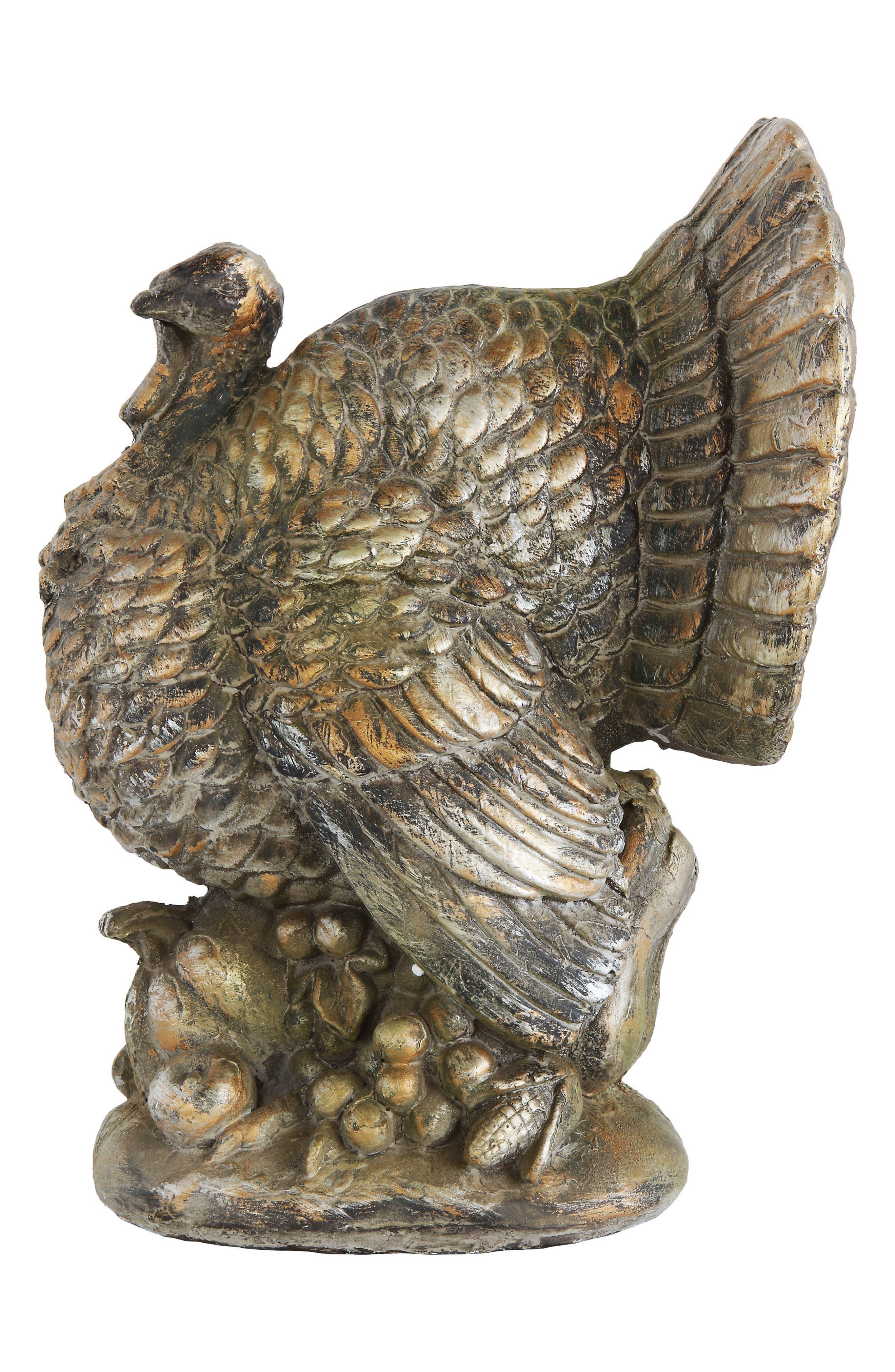 Distressed Turkey Centerpiece,                         Main,                         color, Gold