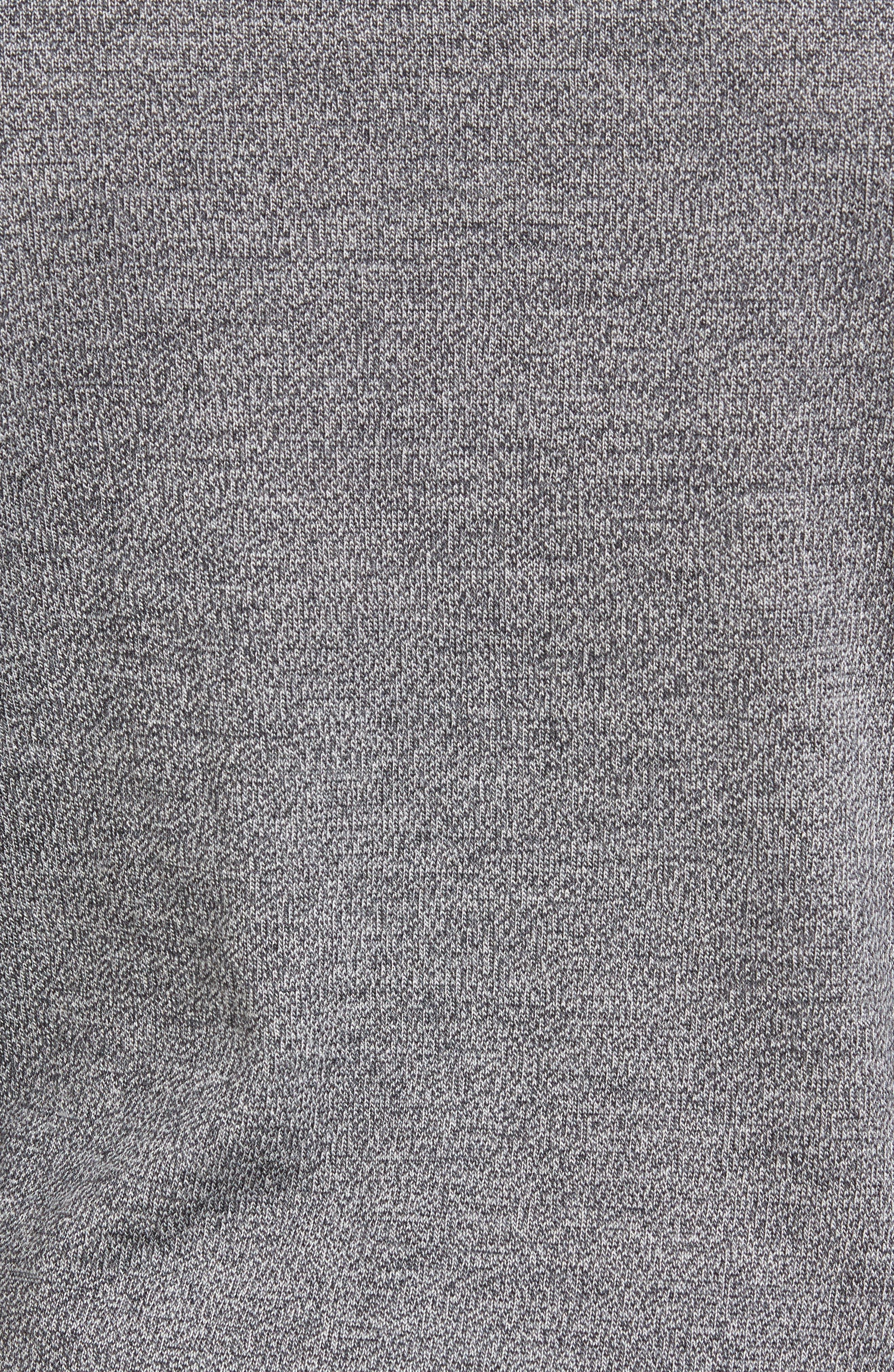 Merino Wool Turtleneck Sweater,                             Alternate thumbnail 5, color,                             Grey Shade Marl