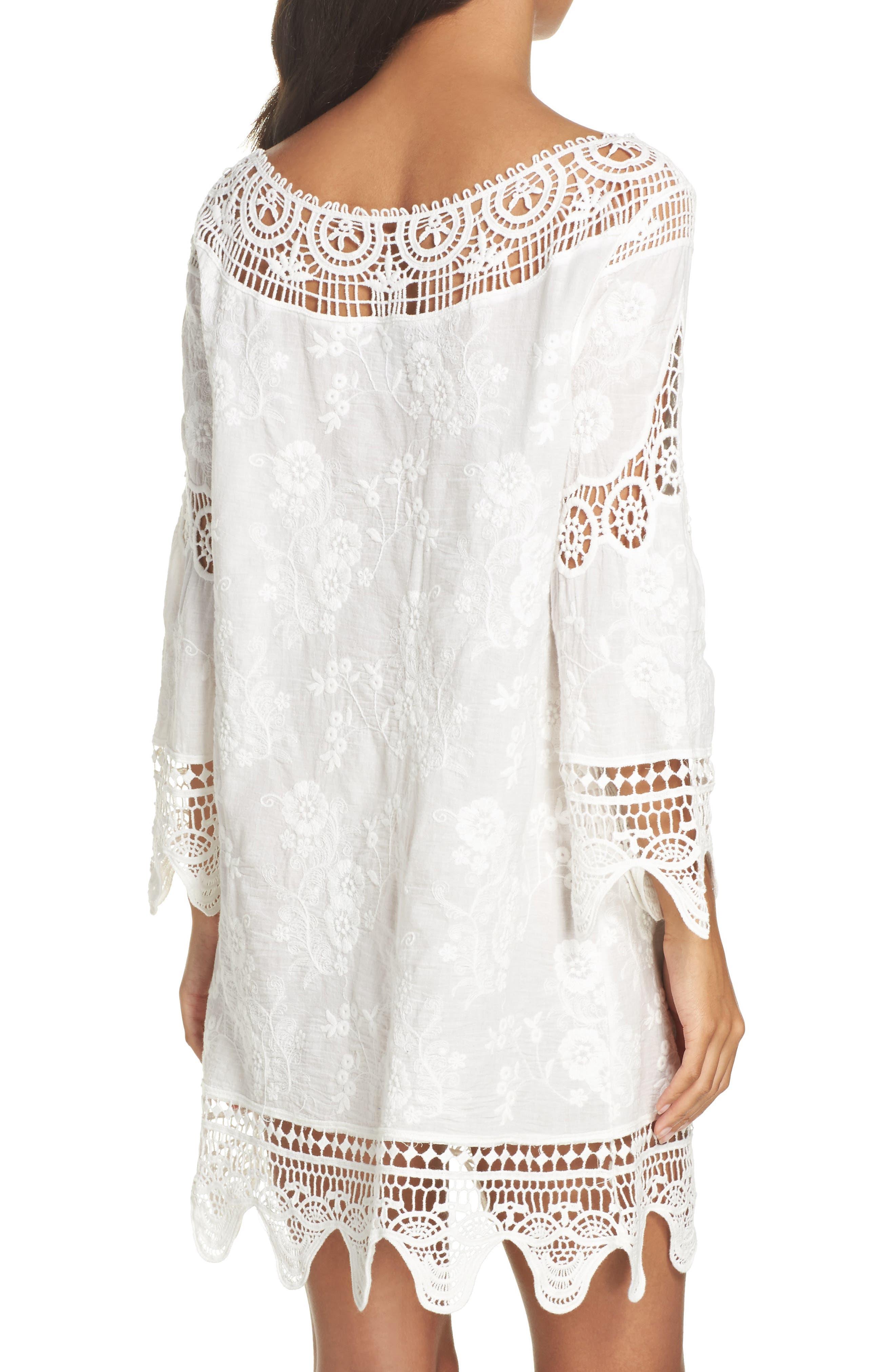 Zen Garden Cover-Up Dress,                             Alternate thumbnail 2, color,                             White