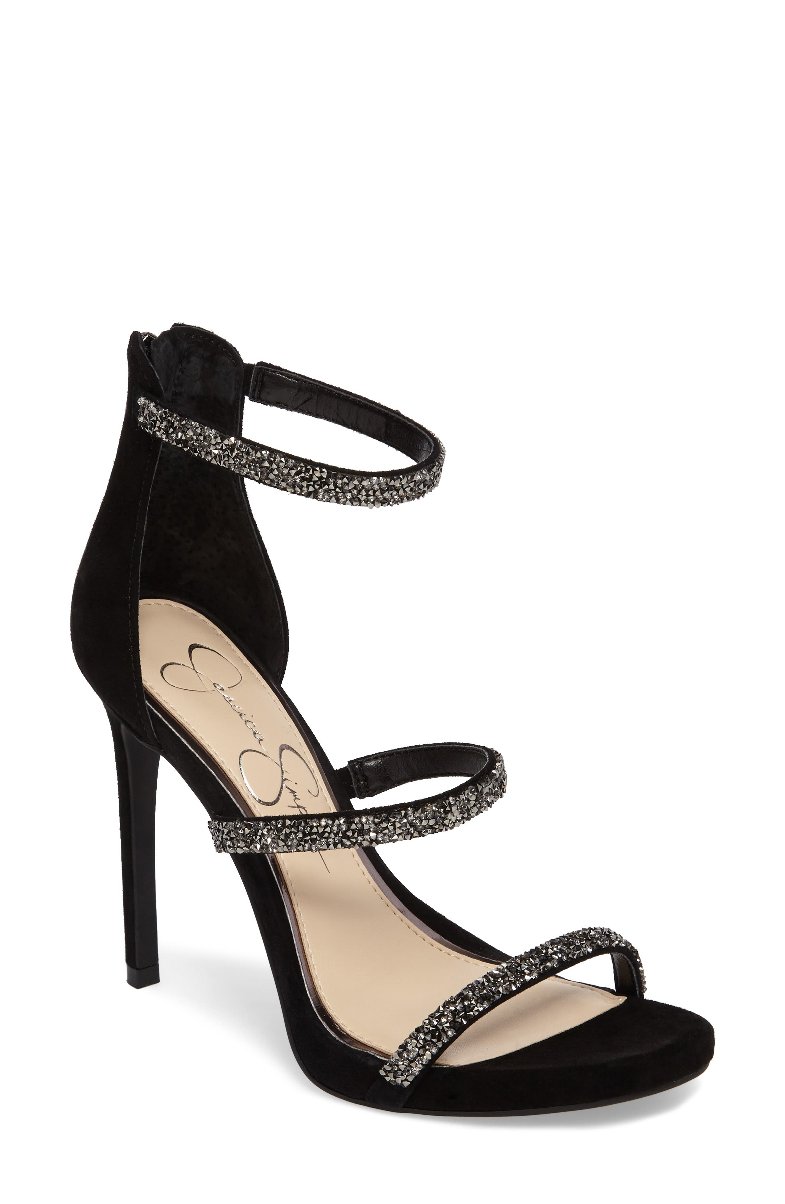 Rennia Sandal,                         Main,                         color, Black/ Jetsto