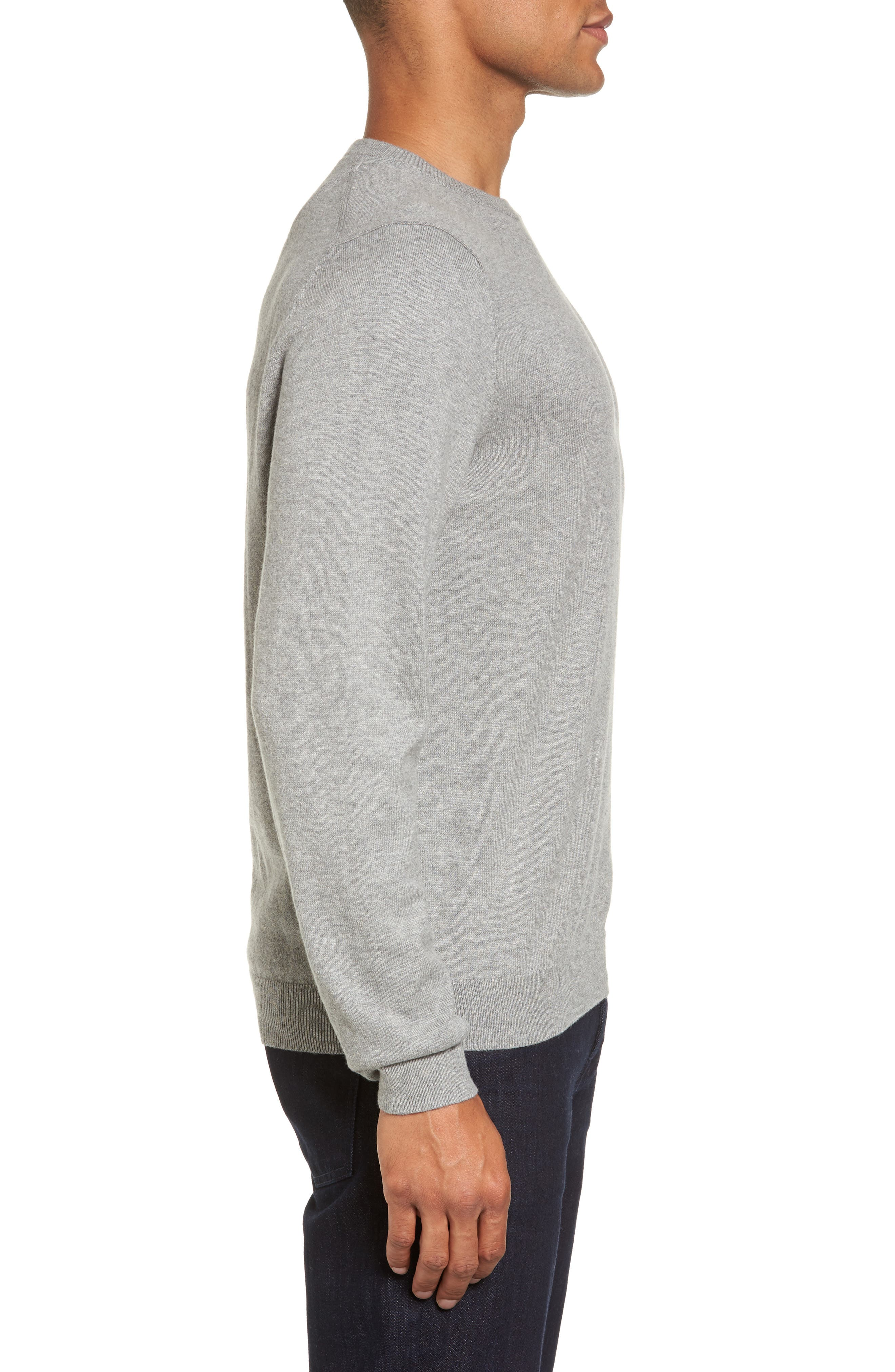 Alternate Image 3  - Nordstrom Men's Shop Cotton & Cashmere Crewneck Sweater (Regular & Tall)