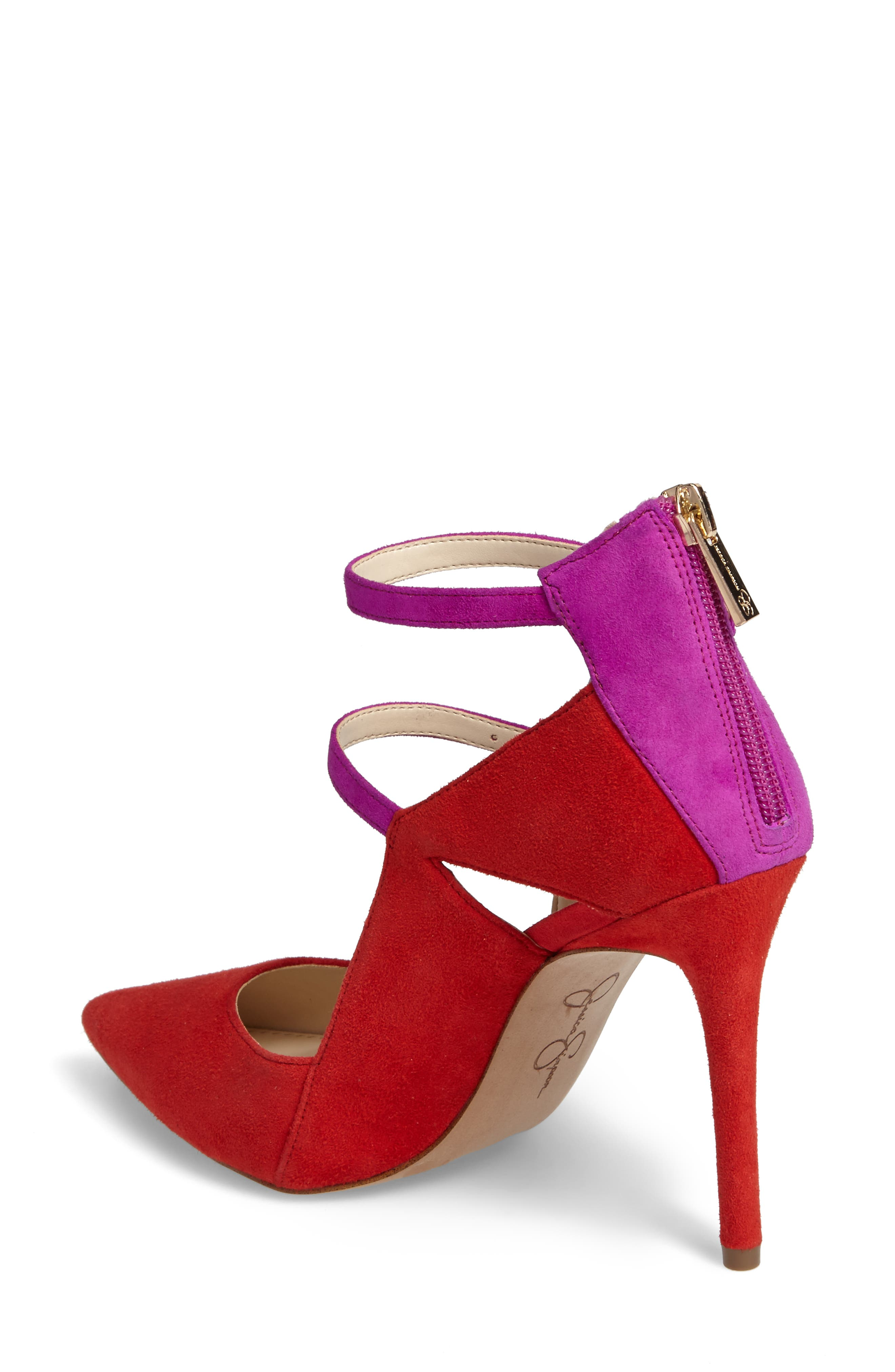Liviana Pointy-Toe Pump,                             Alternate thumbnail 2, color,                             Red Muse Com