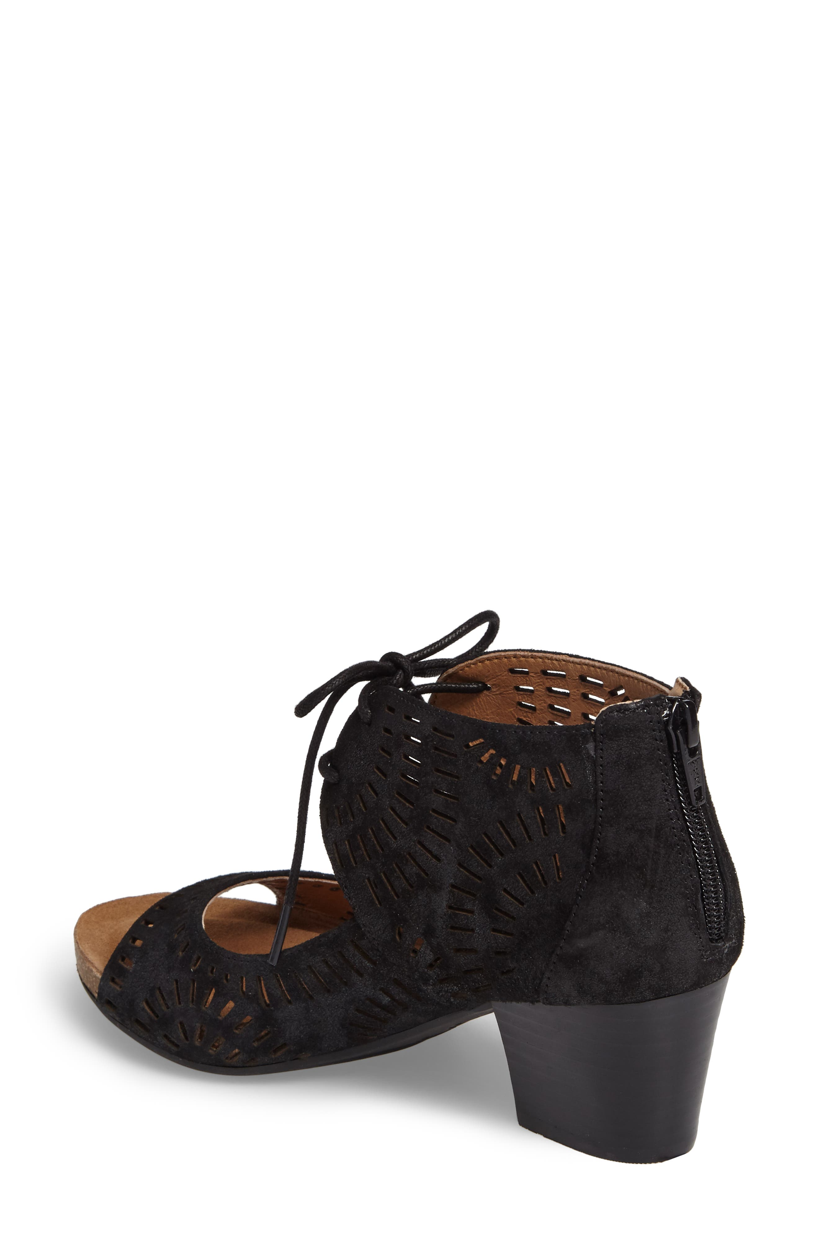 Modesto Perforated Sandal,                             Alternate thumbnail 2, color,                             Black Distressed Foil Suede