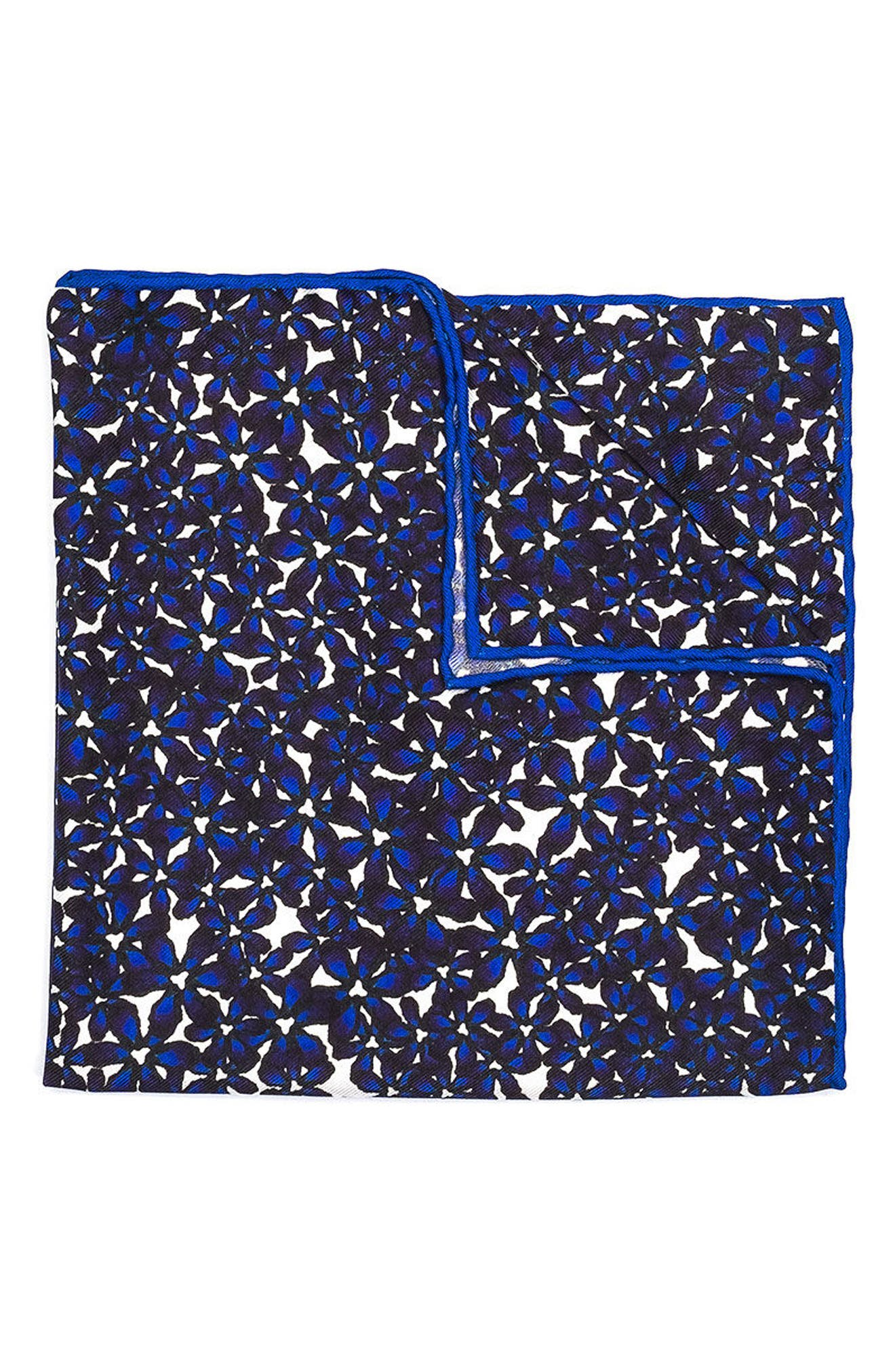 HOOK + ALBERT Bright Floral Silk Pocket Square