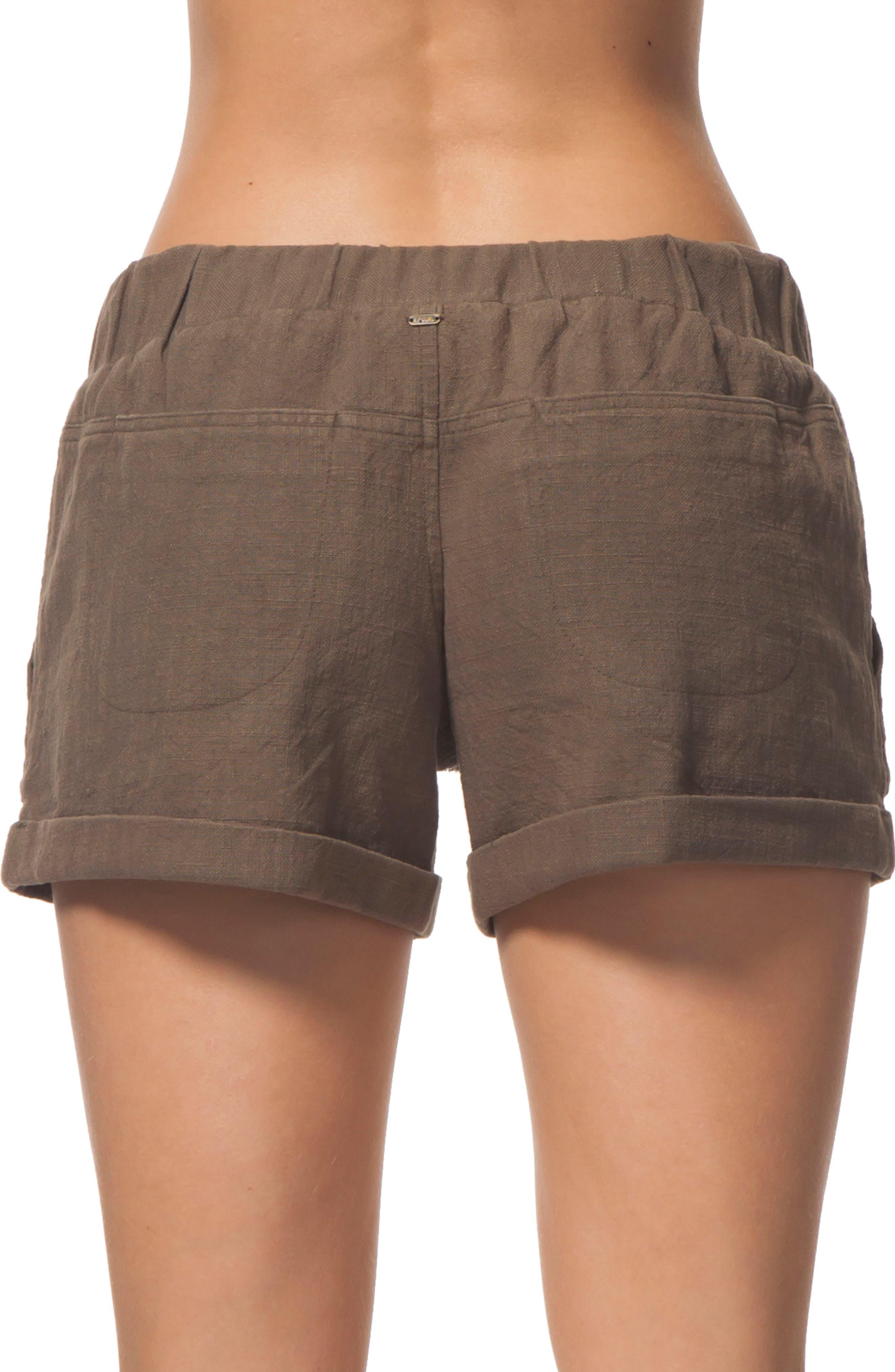 Tumbleweed Cotton Shorts,                             Alternate thumbnail 3, color,                             Army
