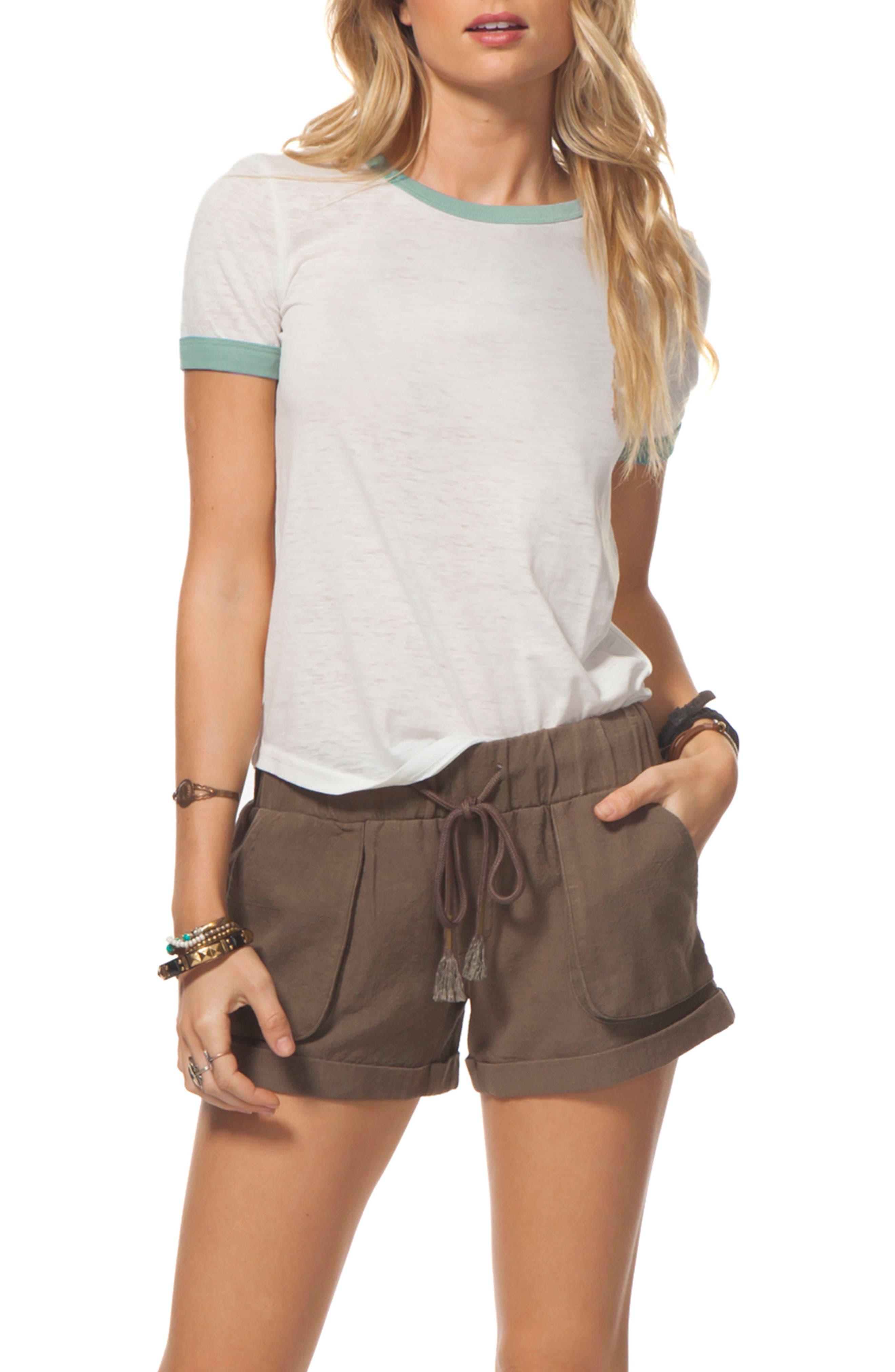 Tumbleweed Cotton Shorts,                             Main thumbnail 1, color,                             Army