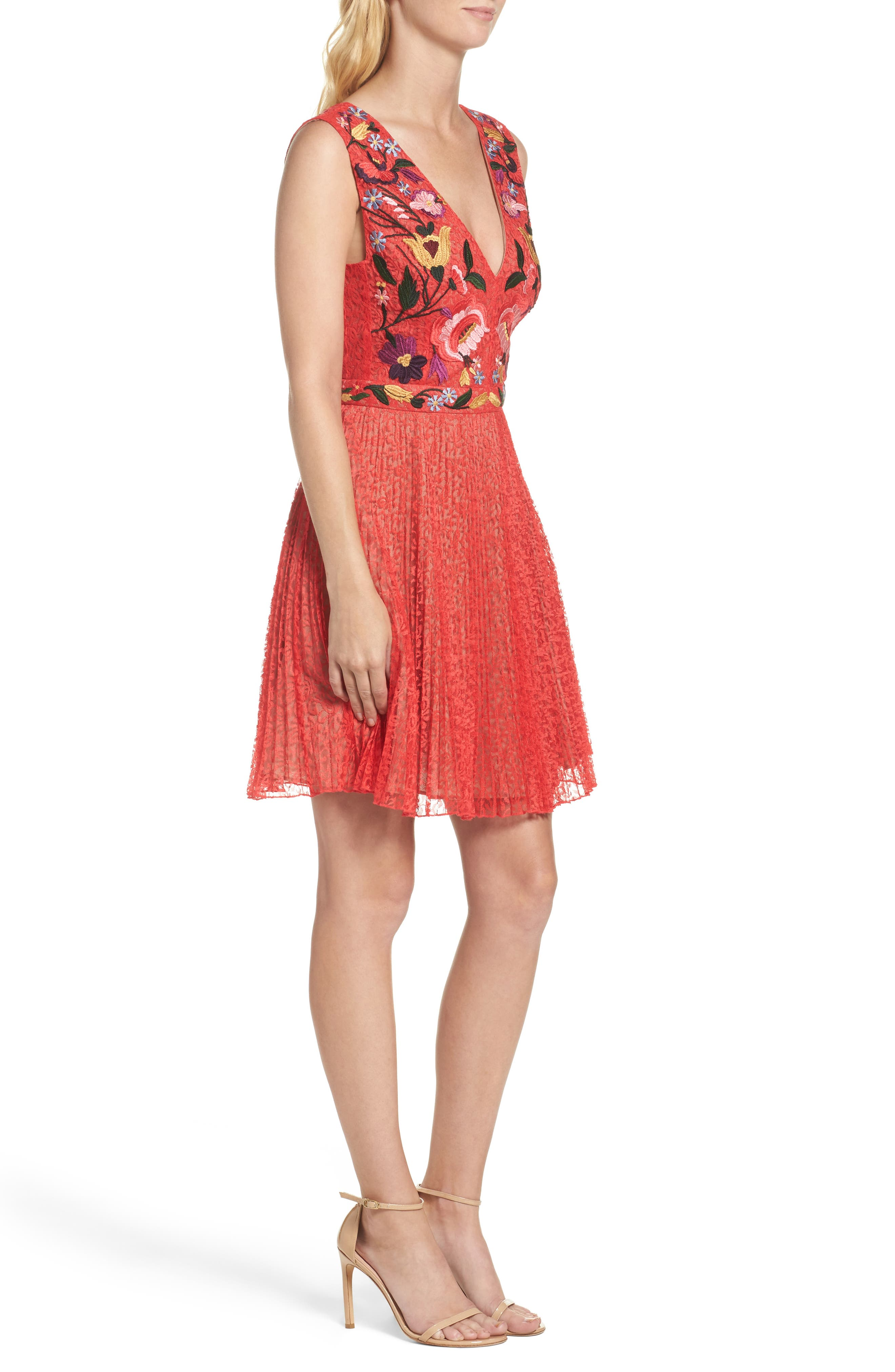 Alternate Image 3  - French Connection Lace Fit & Flare Dress