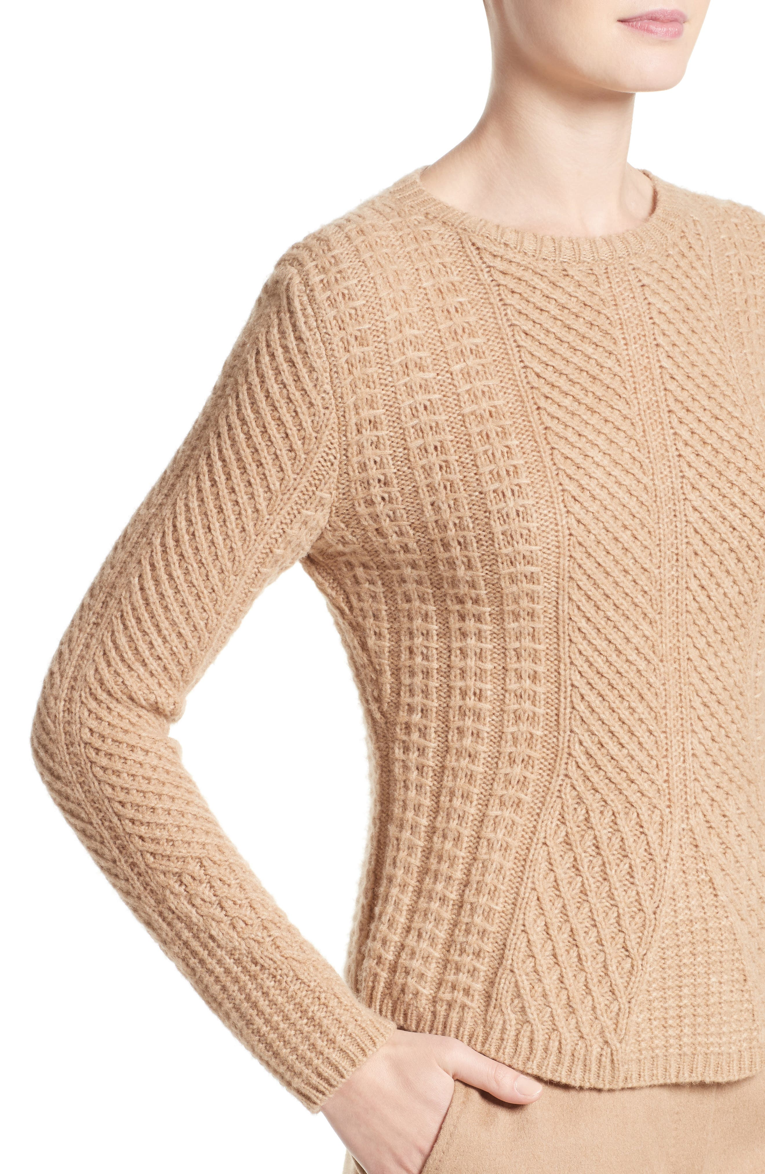 Ronco Sweater,                             Alternate thumbnail 6, color,                             Camel