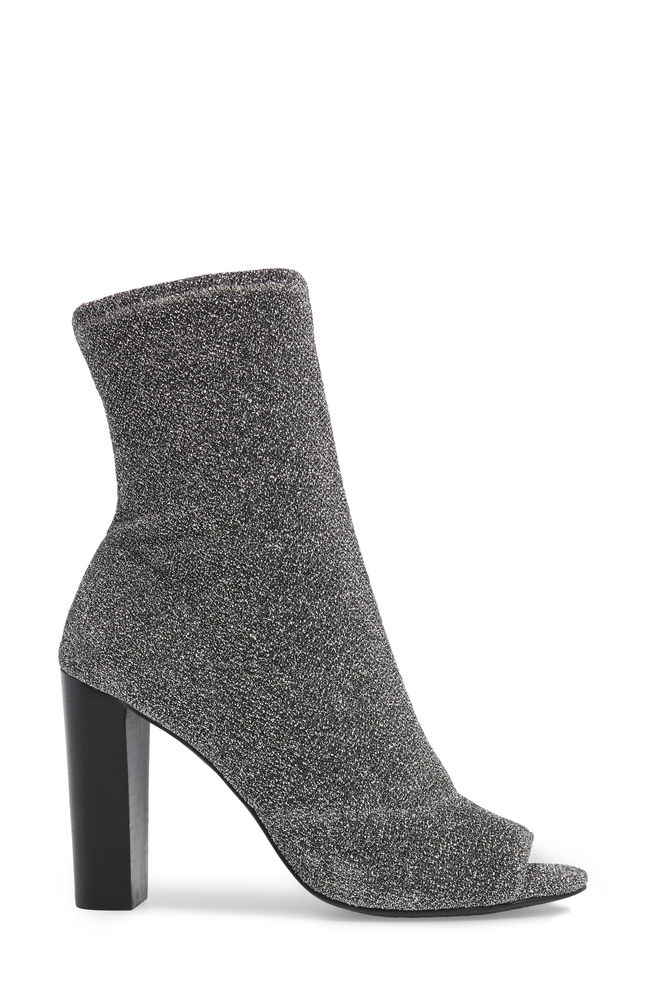 Elara Open-Toe Bootie,                             Alternate thumbnail 3, color,                             Gunmetal
