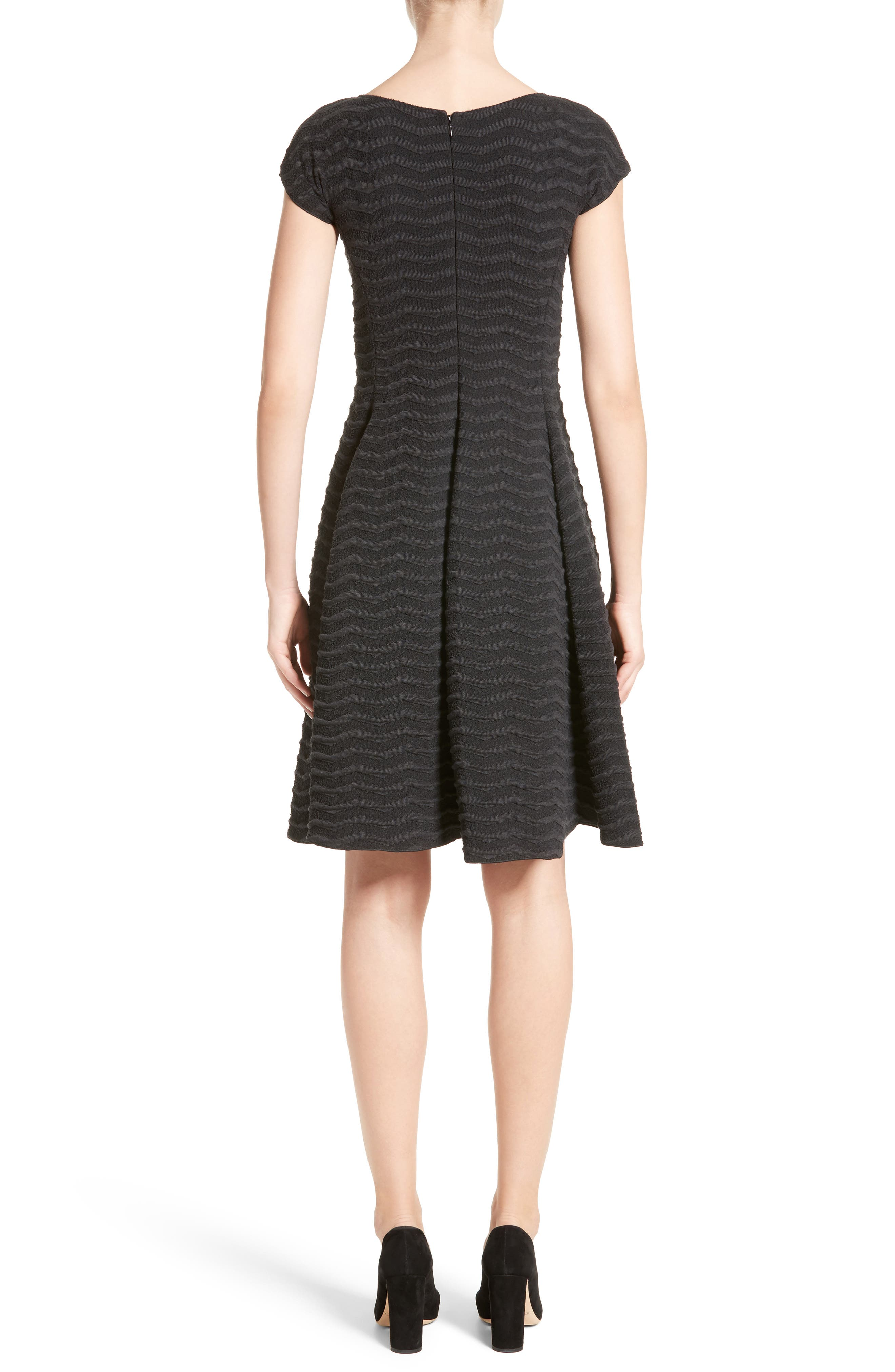 Alternate Image 2  - Armani Collezioni Embossed Jacquard Jersey A-Line Dress