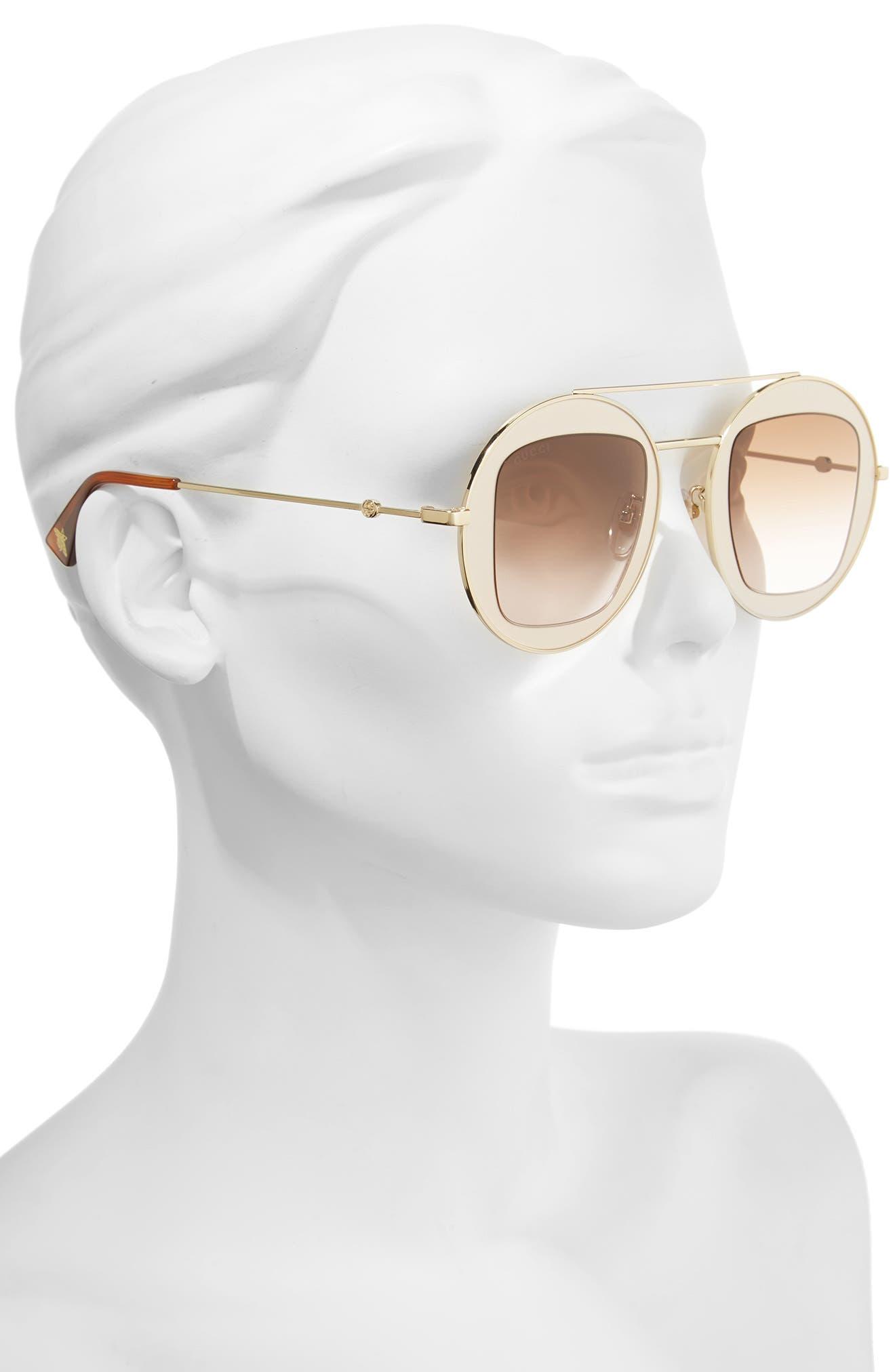 Alternate Image 2  - Gucci 47mm Round Sunglasses