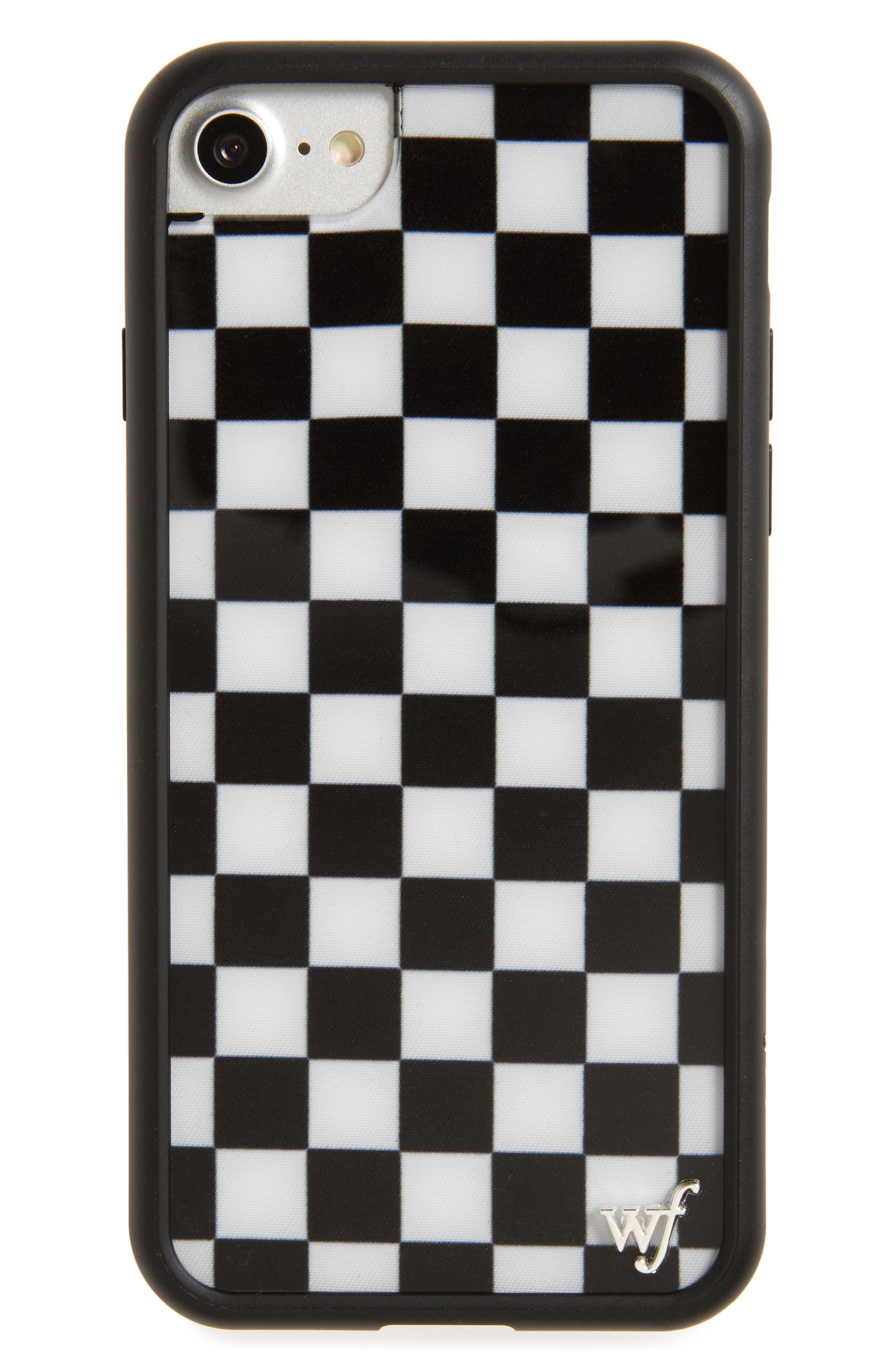 Main Image - Wildflower Checkerboard iPhone 7 Case