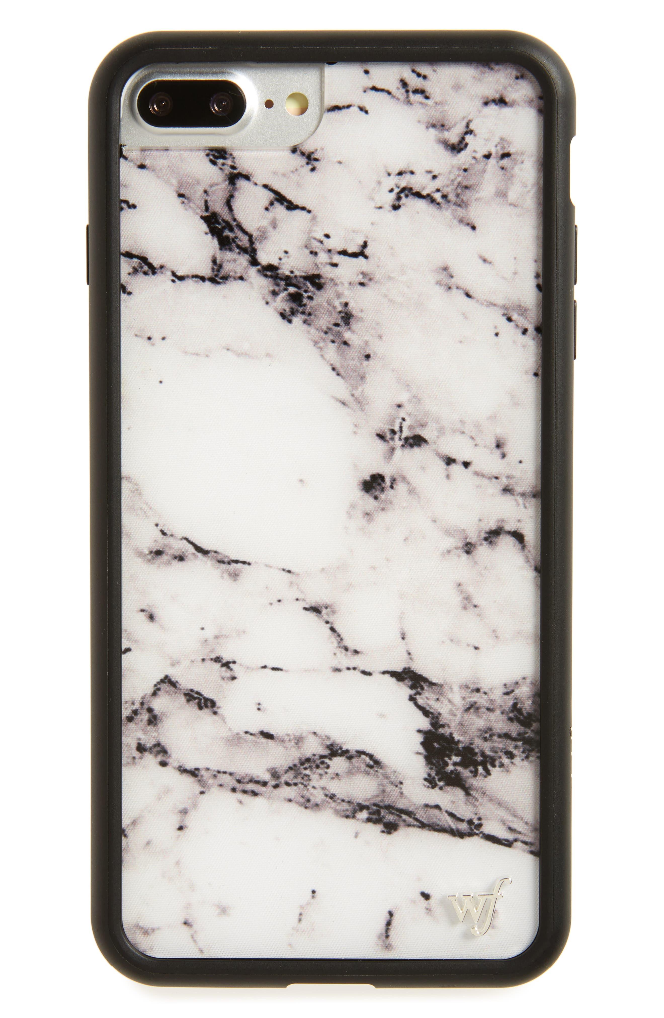 Main Image - Wildflower Marble iPhone 7 Plus Case