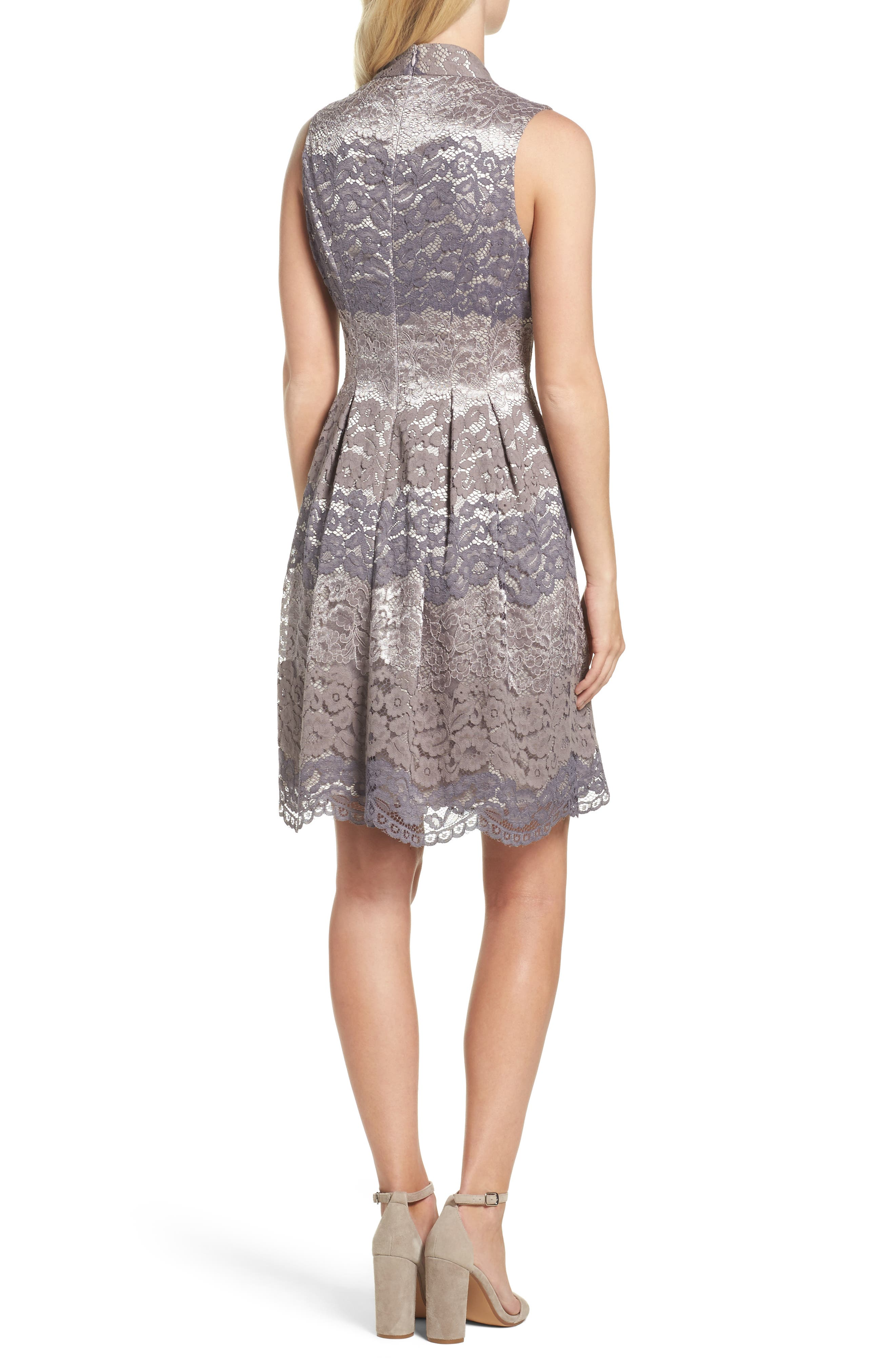 Alternate Image 2  - Vince Camuto Lace Fit & Flare Dress (Regular & Petite)