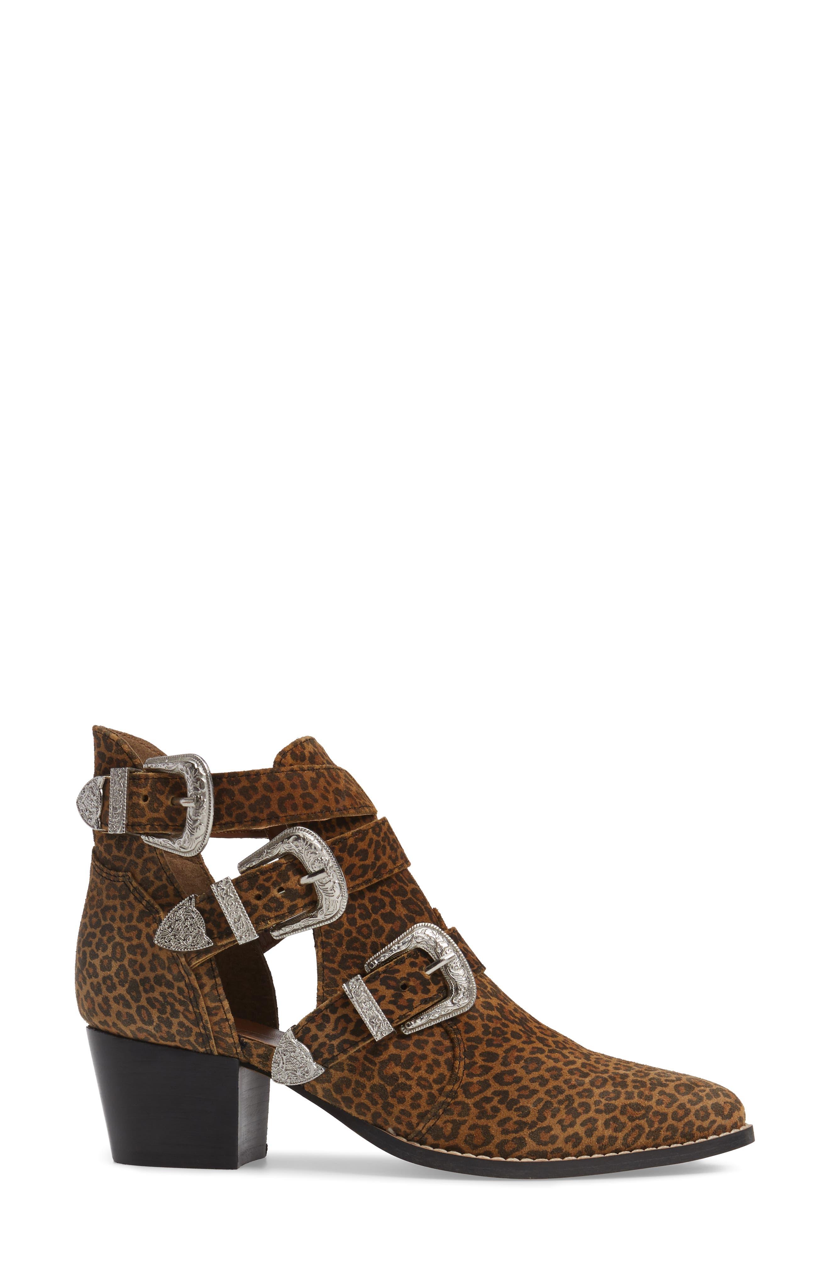 Alternate Image 3  - Topshop Marmalade Leopard Print Buckle Bootie (Women)